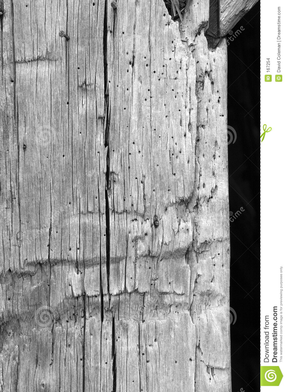 Board texture in black and white