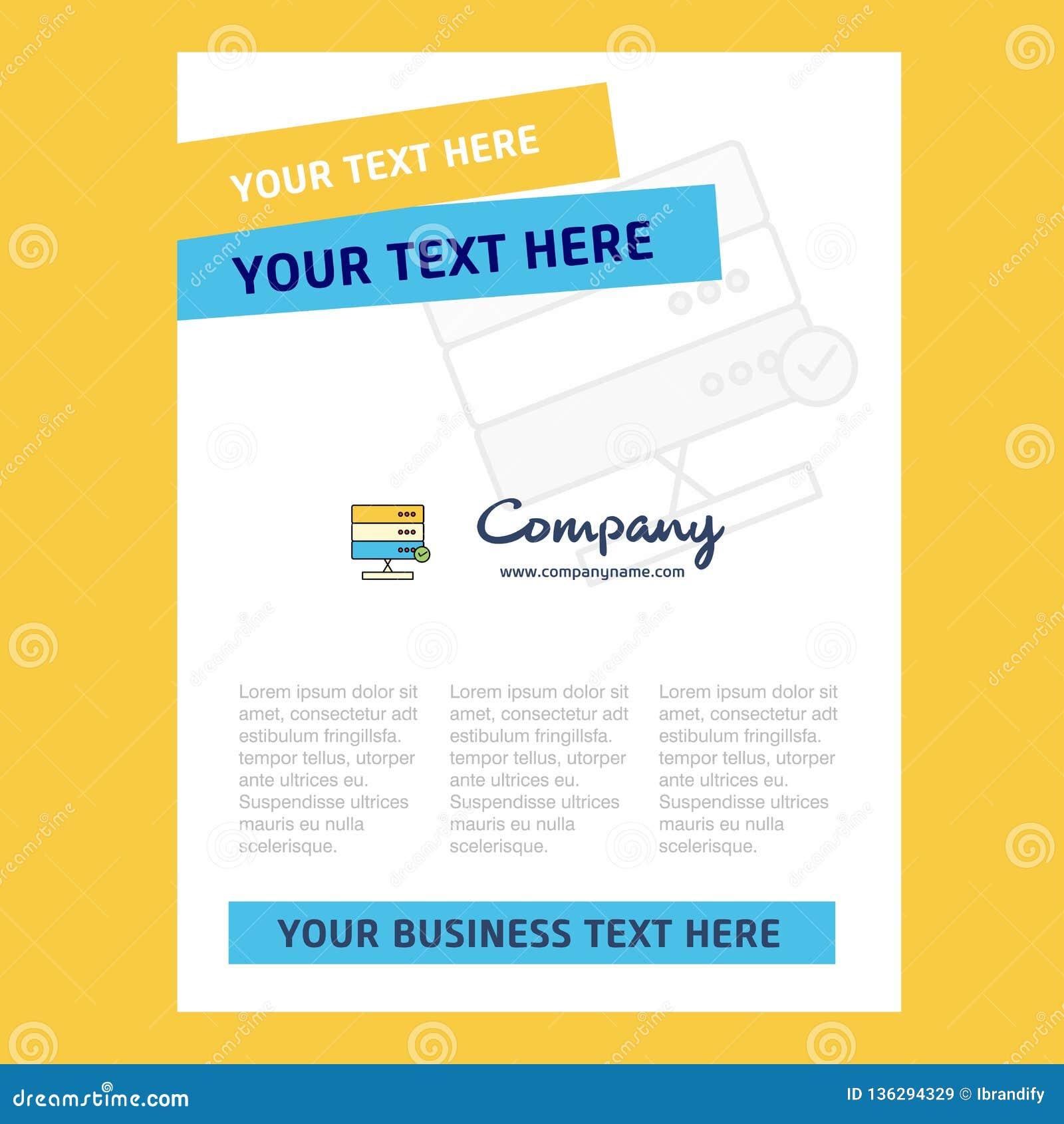 Board Title Page Design For Company Profile Annual Report