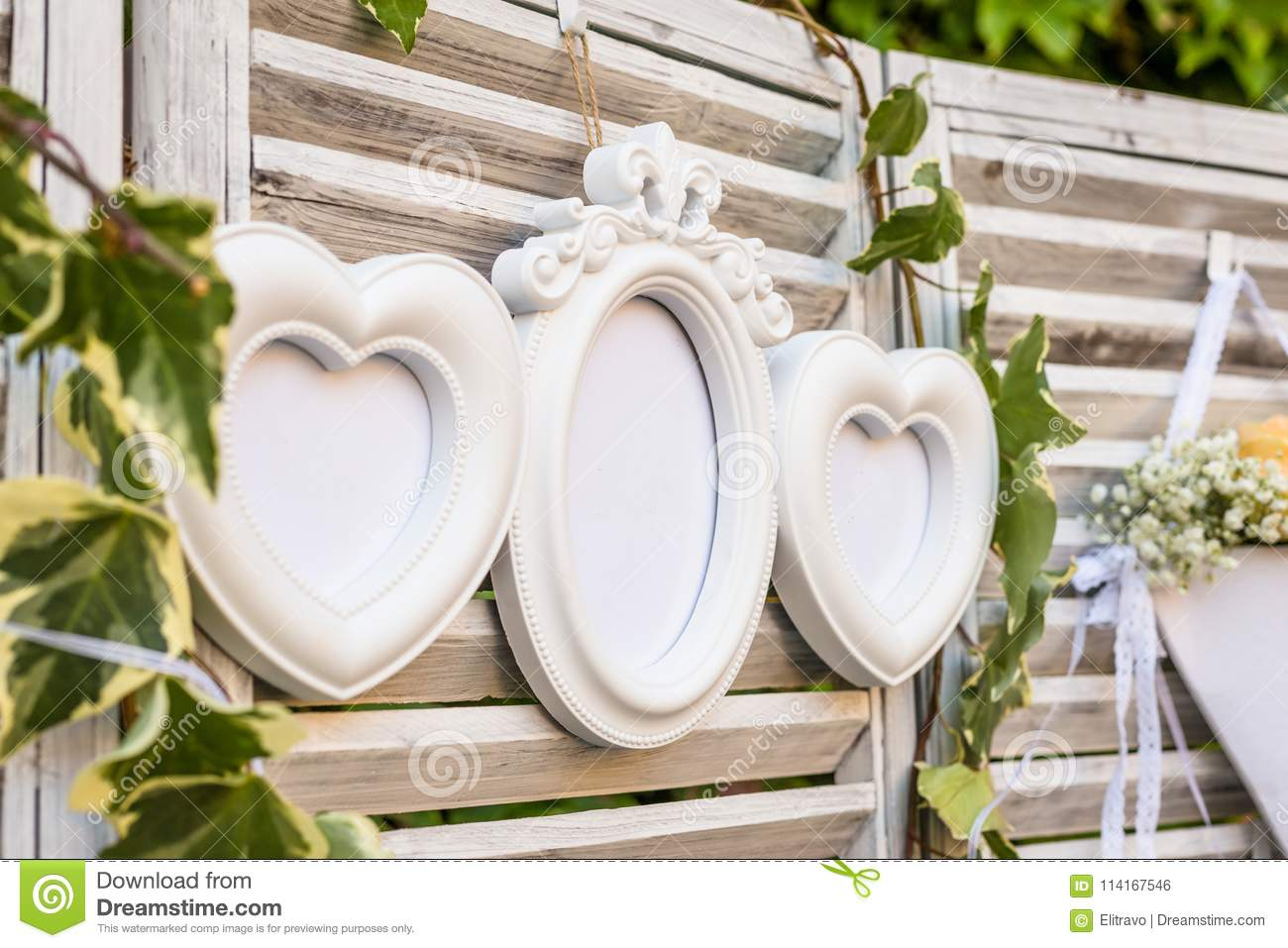 Board With Wedding Guest List Stock Photo - Image of setting ...