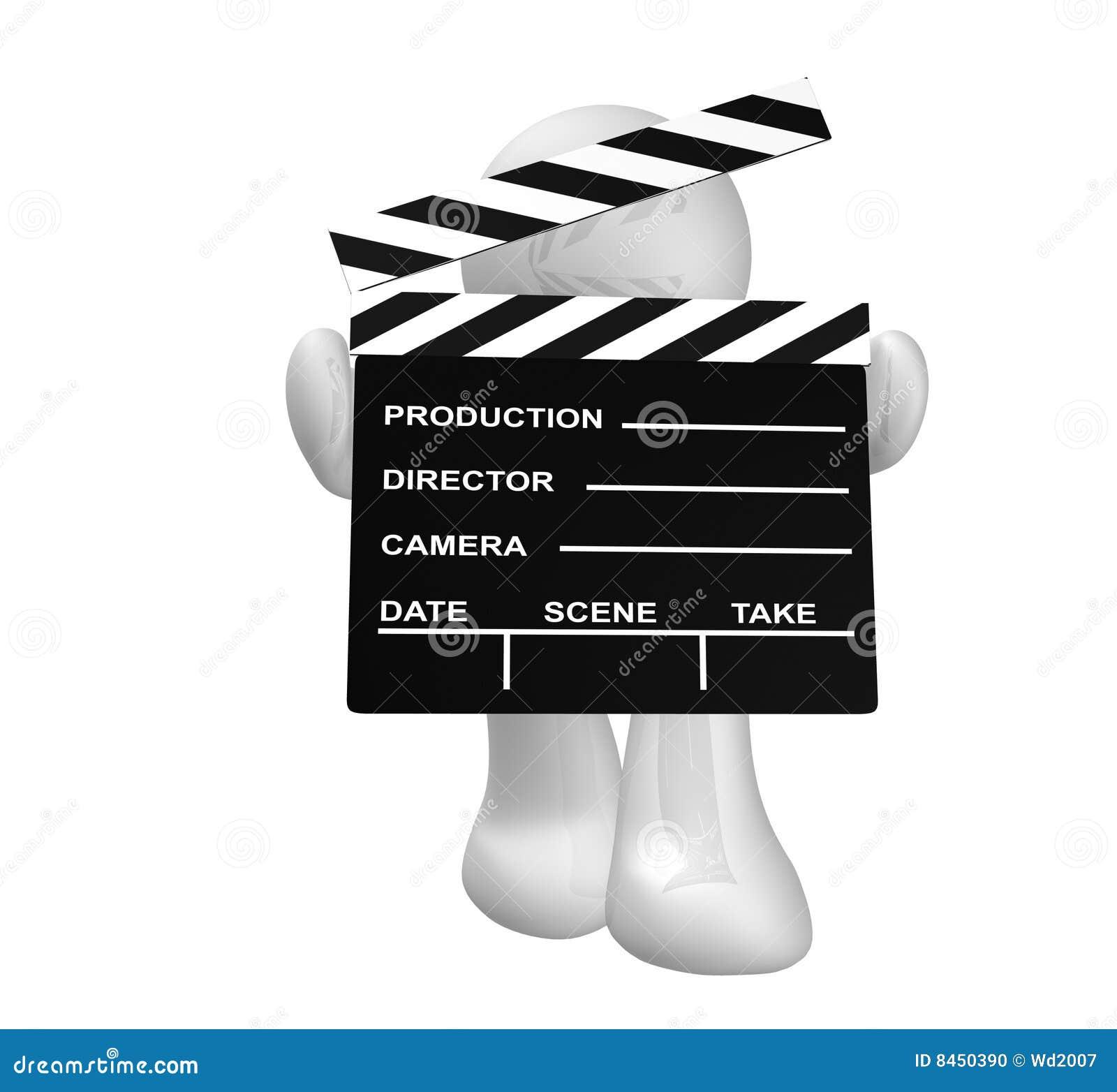 Board white för platsen för symbolen för holdingen för applådfilmgrabben