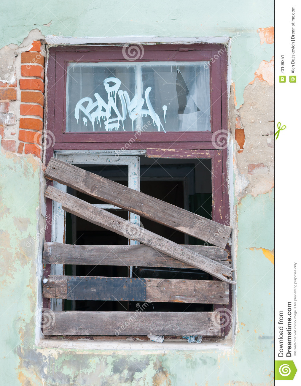 Boarded Up Window Stock Image Image Of Desolate Outside