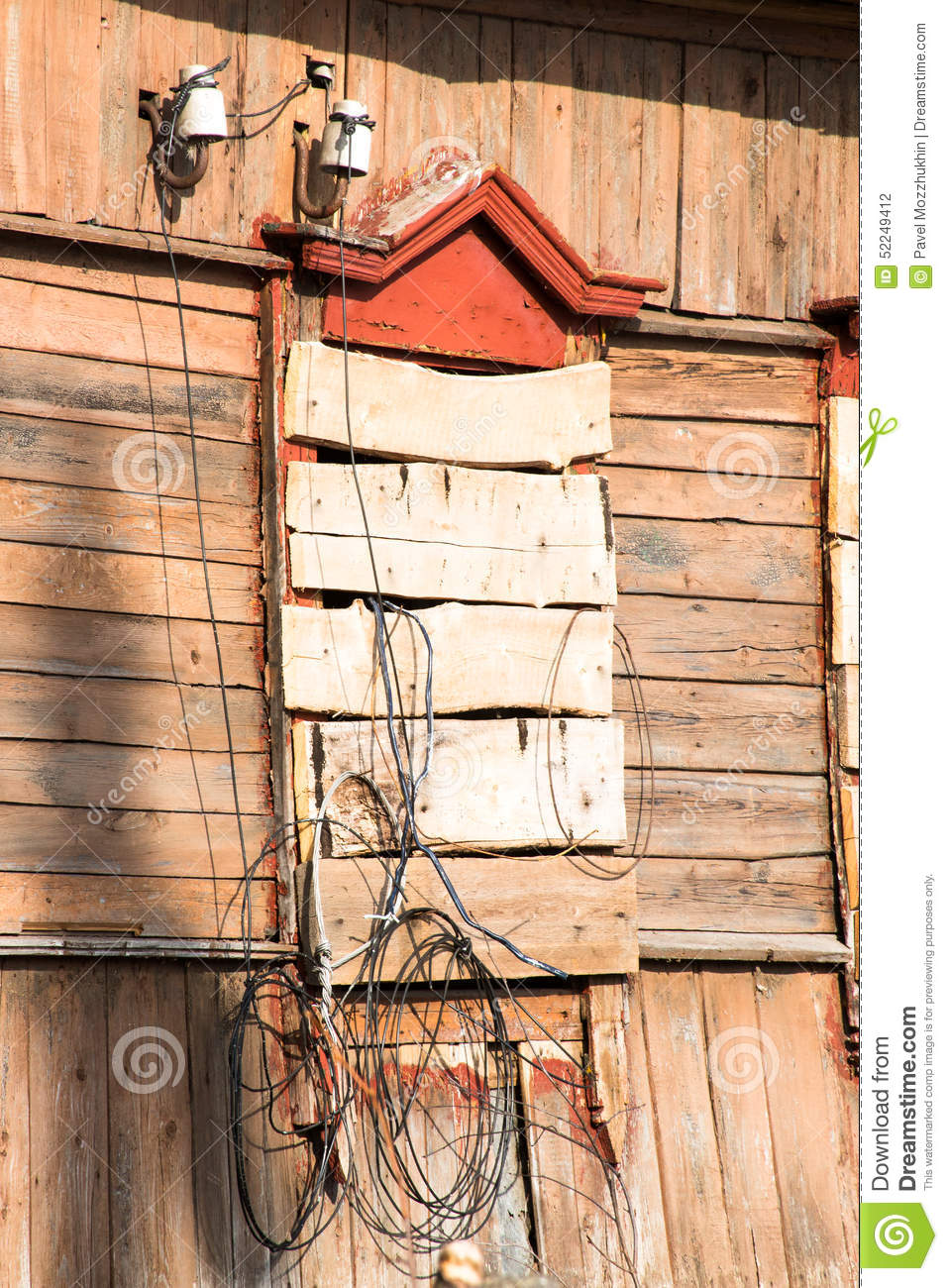 Boarded Up Window Stock Photo Image Of Door Aged Background Wiring Old Farmhouse 52249412