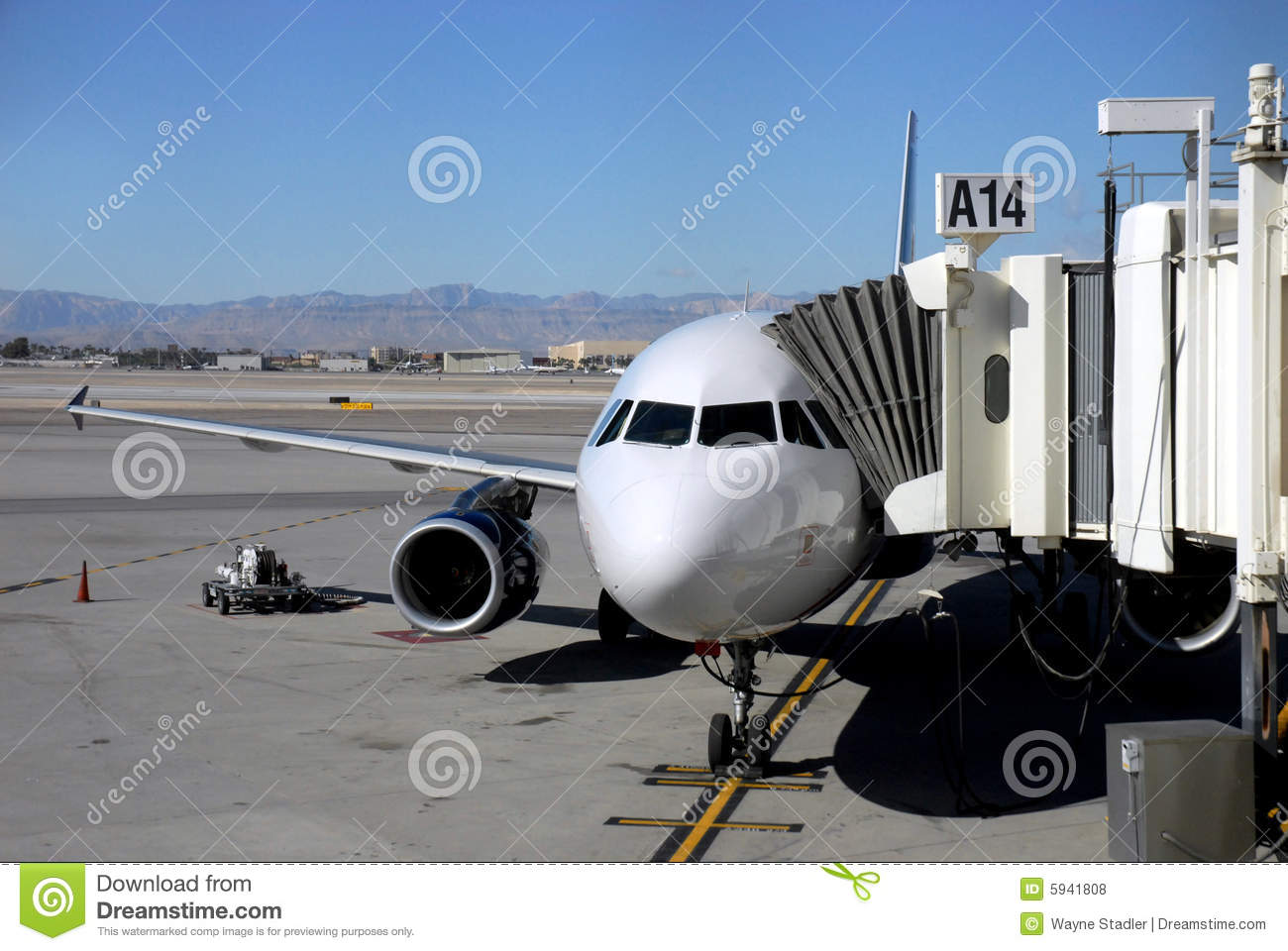 Boarding Gate At Airport Royalty Free Stock Photos