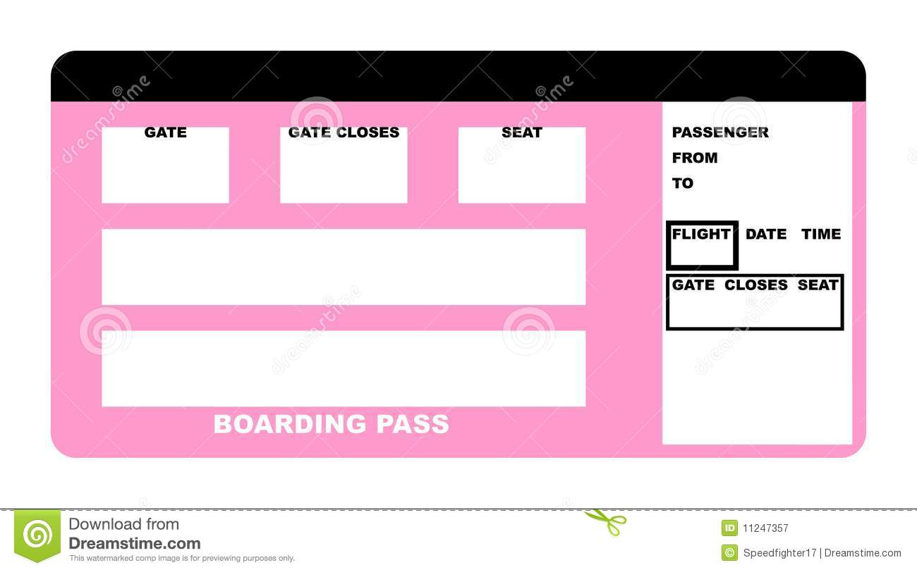 boarding pass stock illustration image of departure 11247357. Black Bedroom Furniture Sets. Home Design Ideas