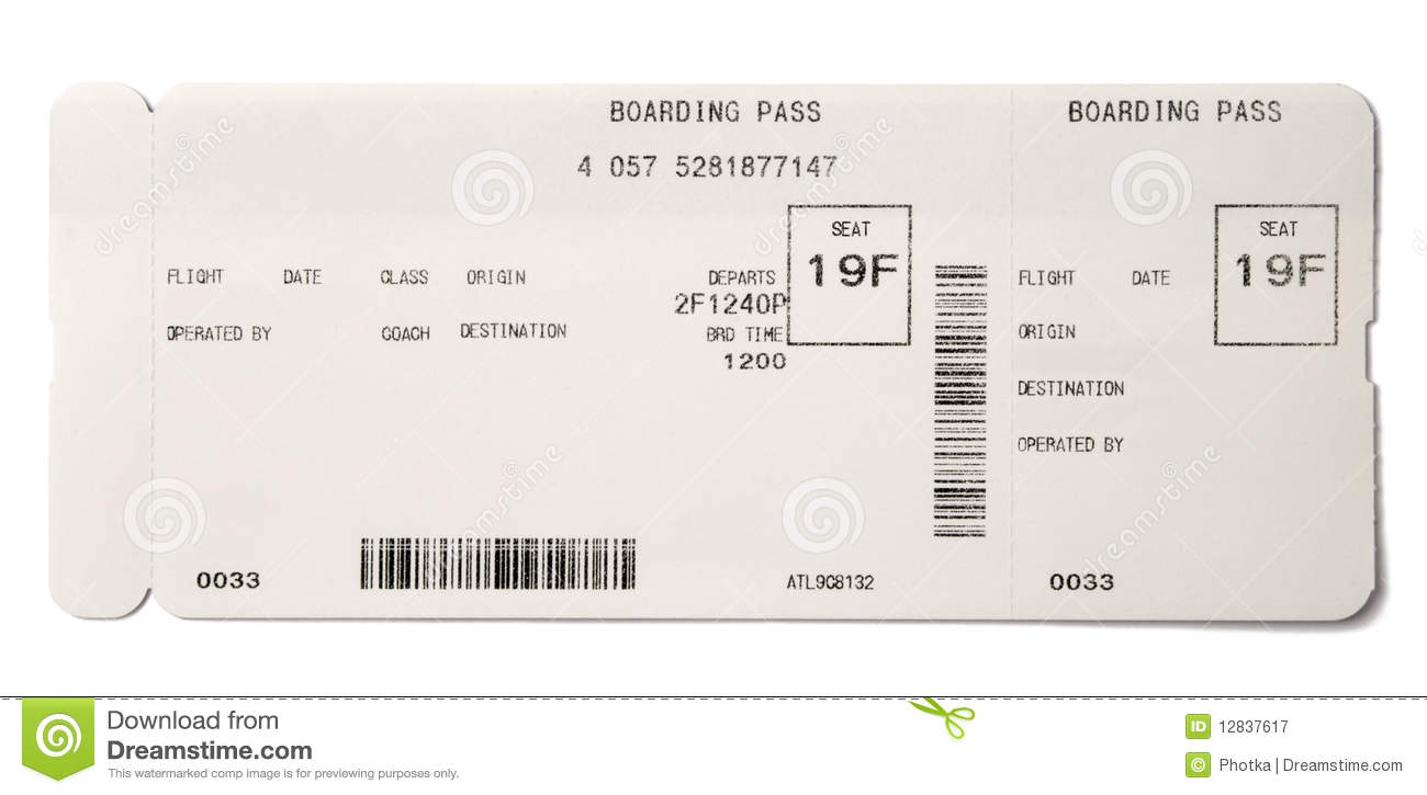 Boarding pass stock image image of airplane abroad for Spirit airlines ticket prices
