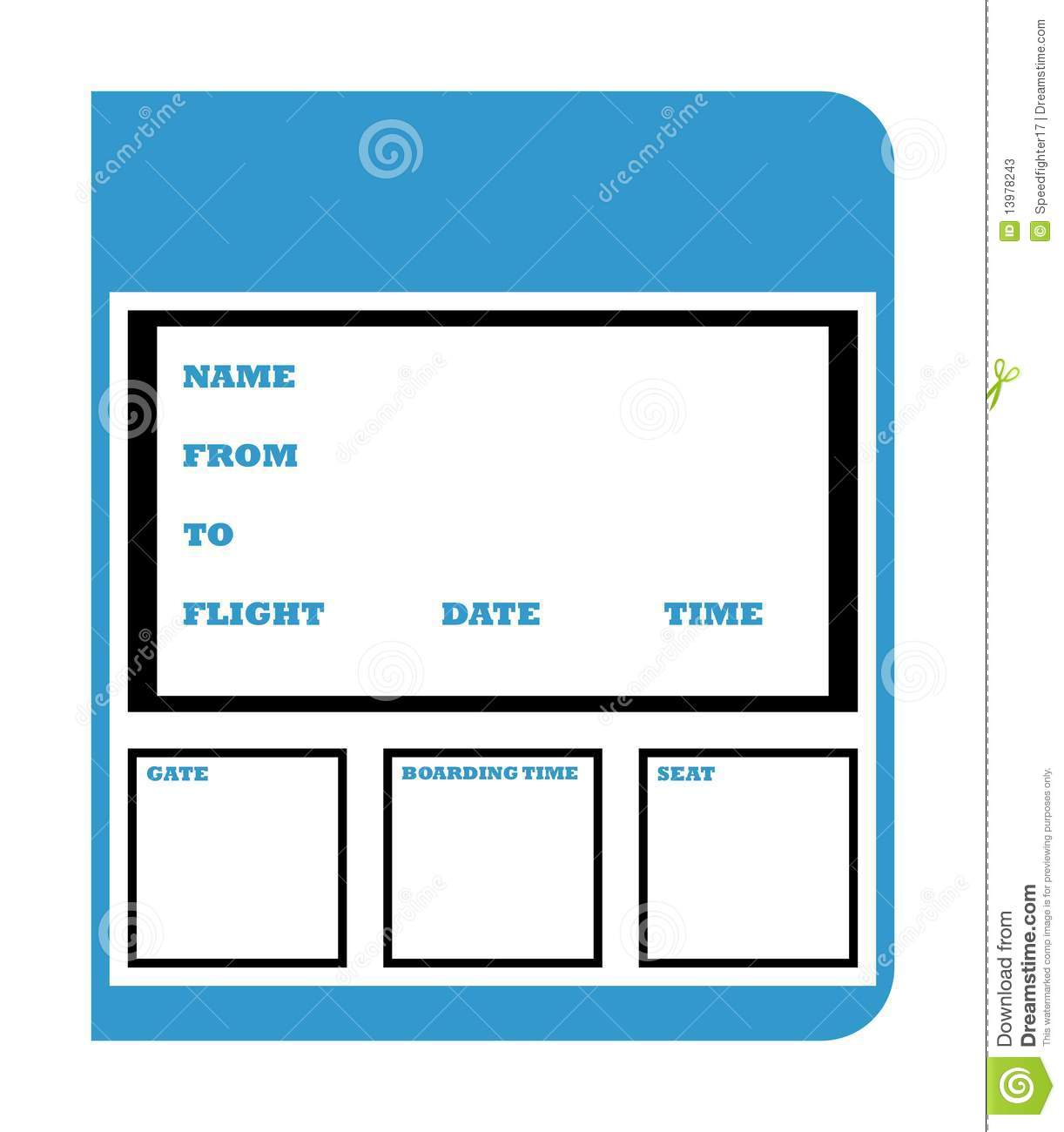 united airlines boarding pass template .