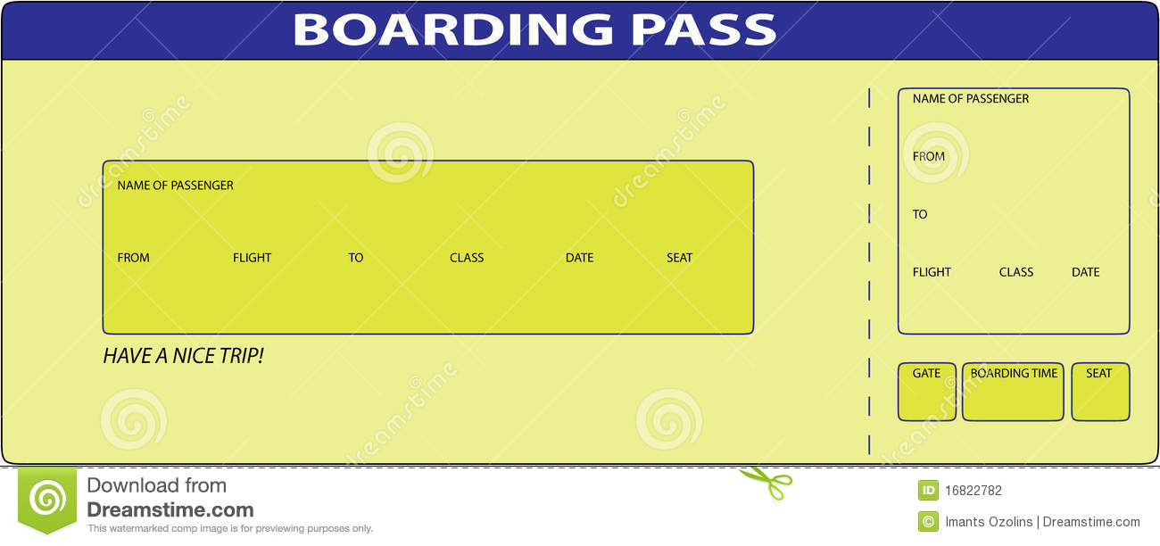 Custom Card Template boarding card template : Boarding Pass Stock Photography - Image: 16822782