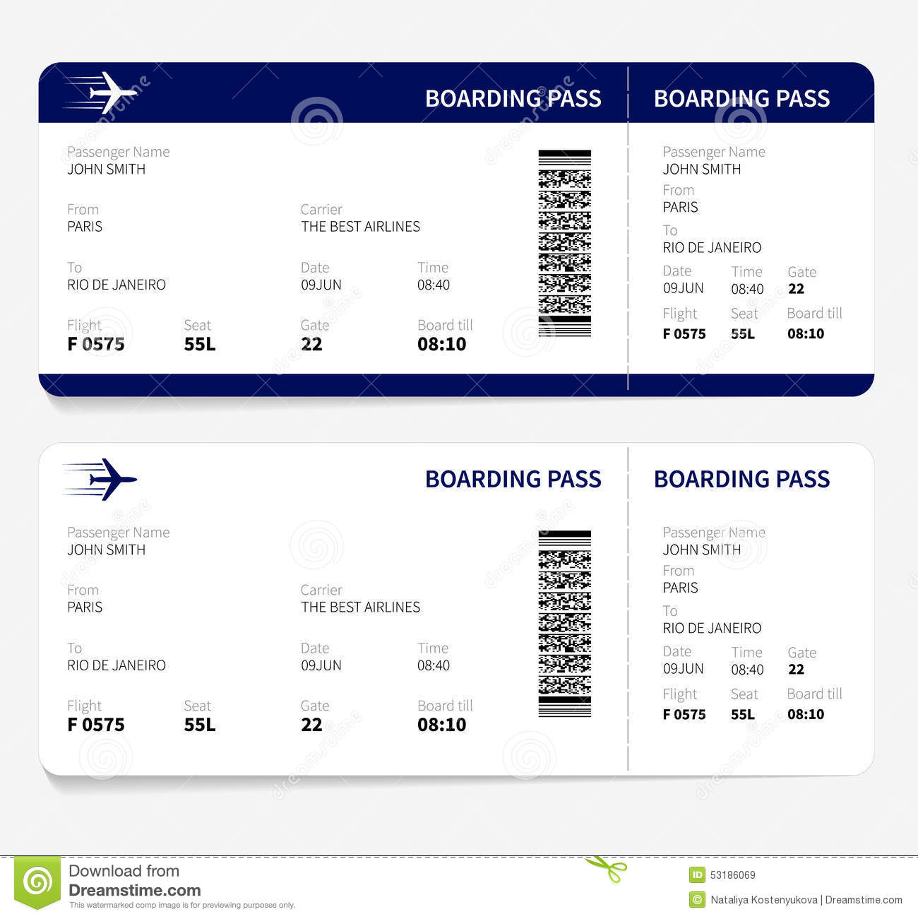 Boarding Pass Template Photos Images Pictures 555 Images – Plane Ticket Template
