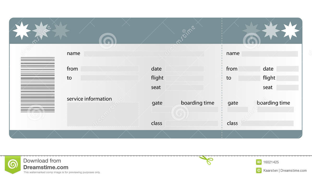 Boarding P Template | Boarding Pass Blank Royalty Free Stock Photo Image 16021425