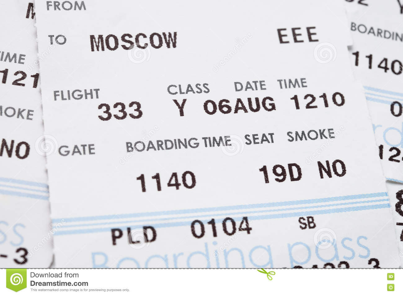 Boarding Pass Close Up Stock Image Image Of Pass Background 76414357