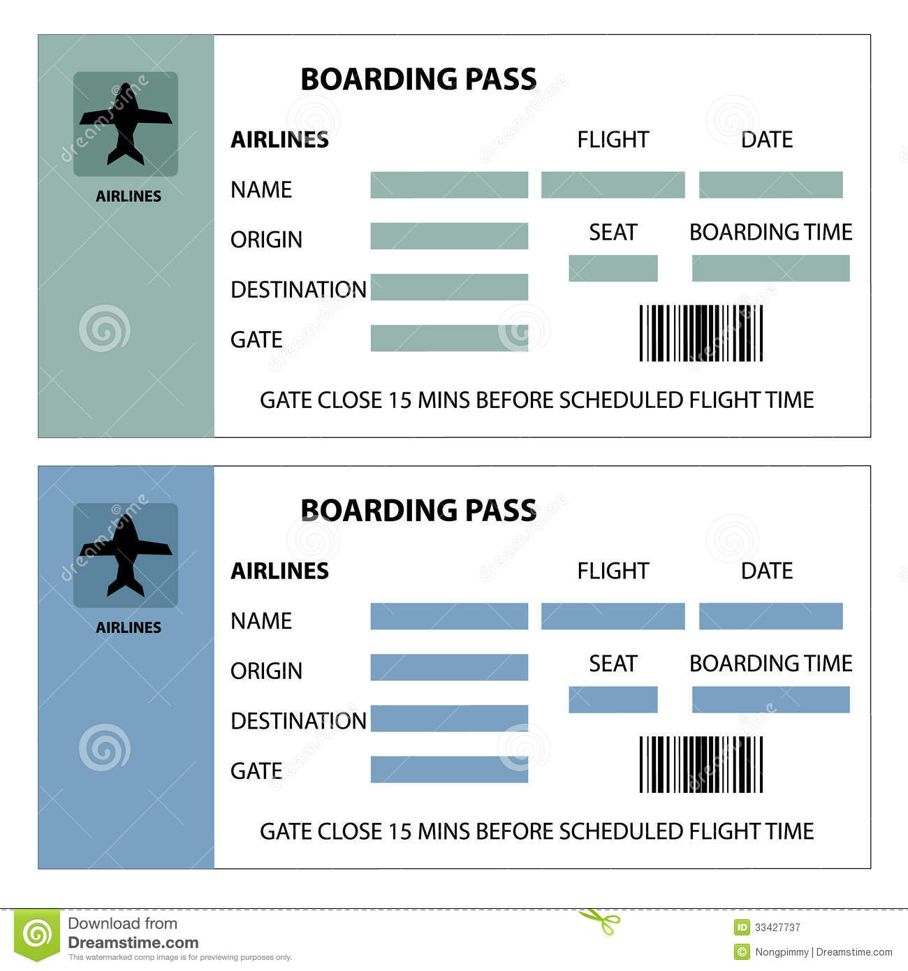 Boarding Pass Royalty Free Stock Photography - Image: 33427737