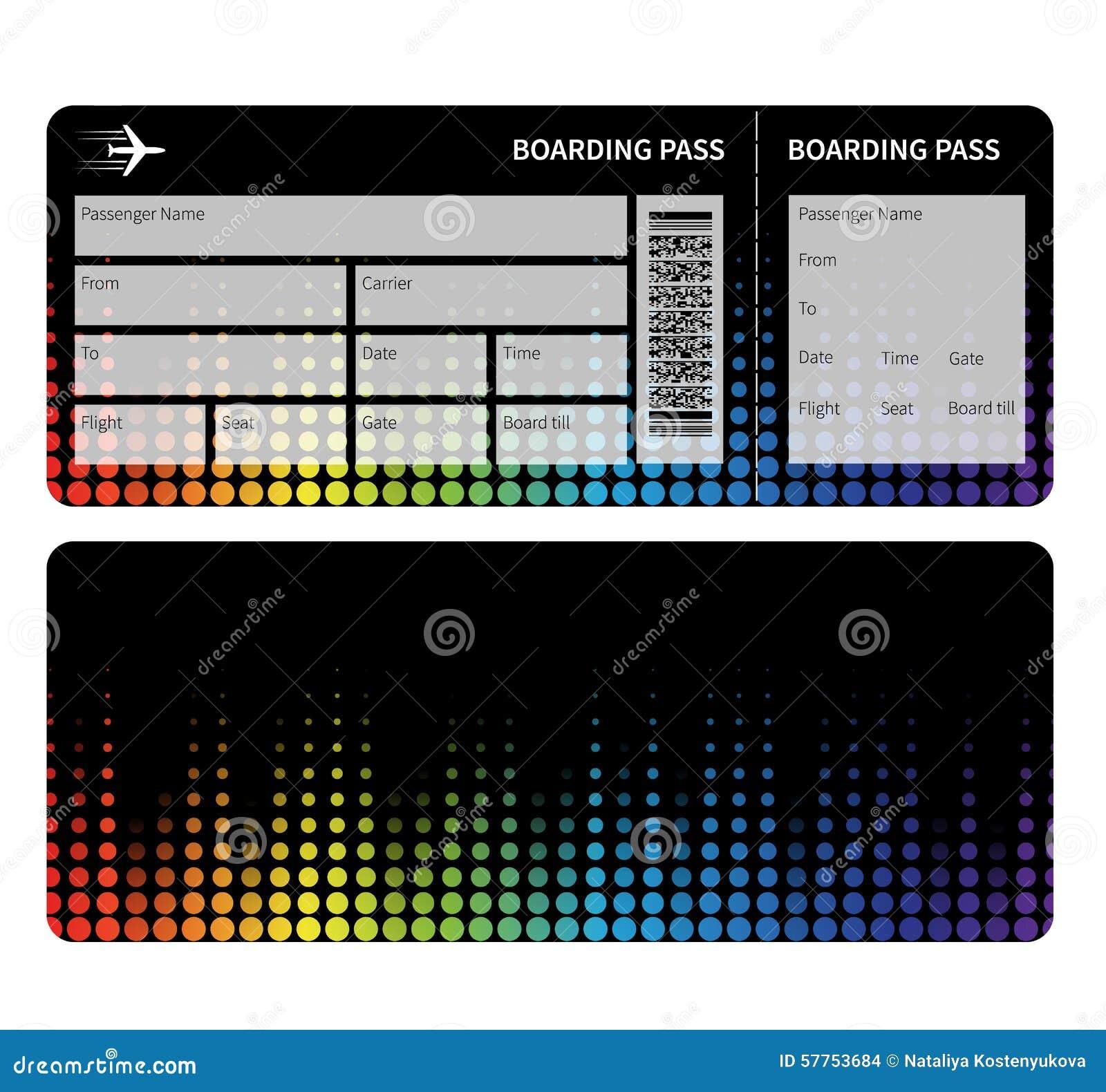 Boarding Pass Stock Vector Illustration Of Design Triangle 57753684