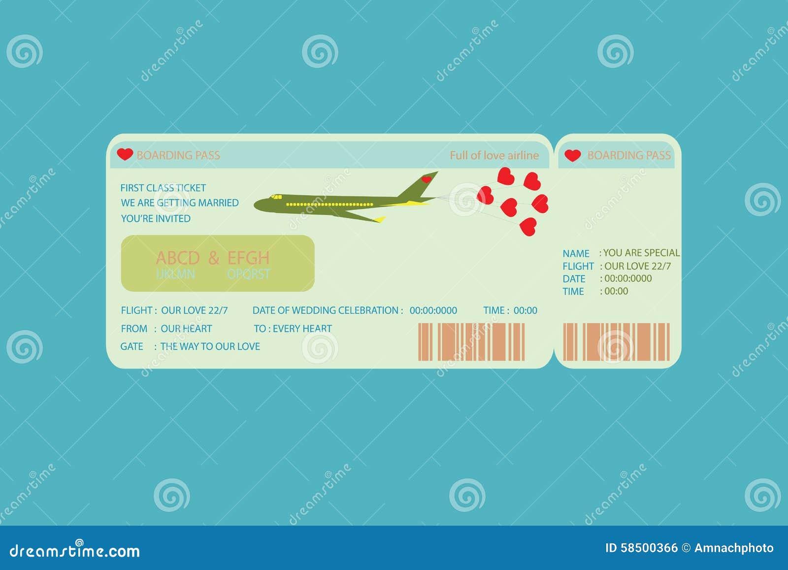 boarding pass ticket  stock vector