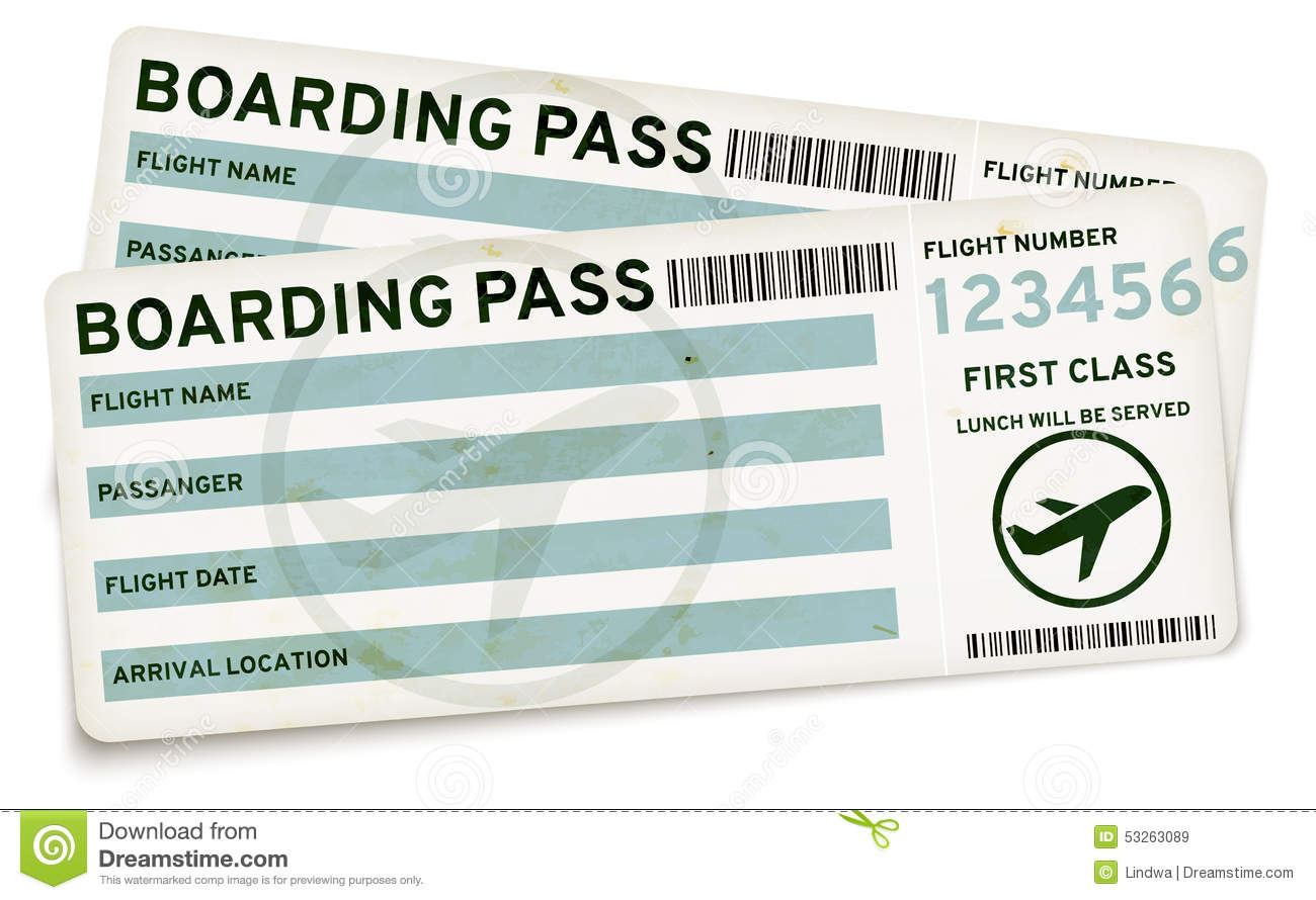 Boarding Pass Tickets  Printable Fake Airline Tickets