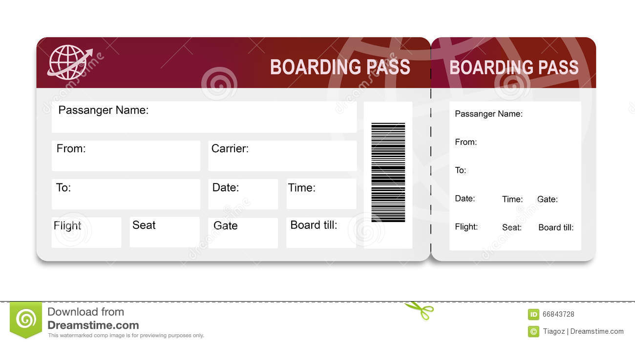Boarding Pass Stock Photo Image Of Ticket Reception 66843728
