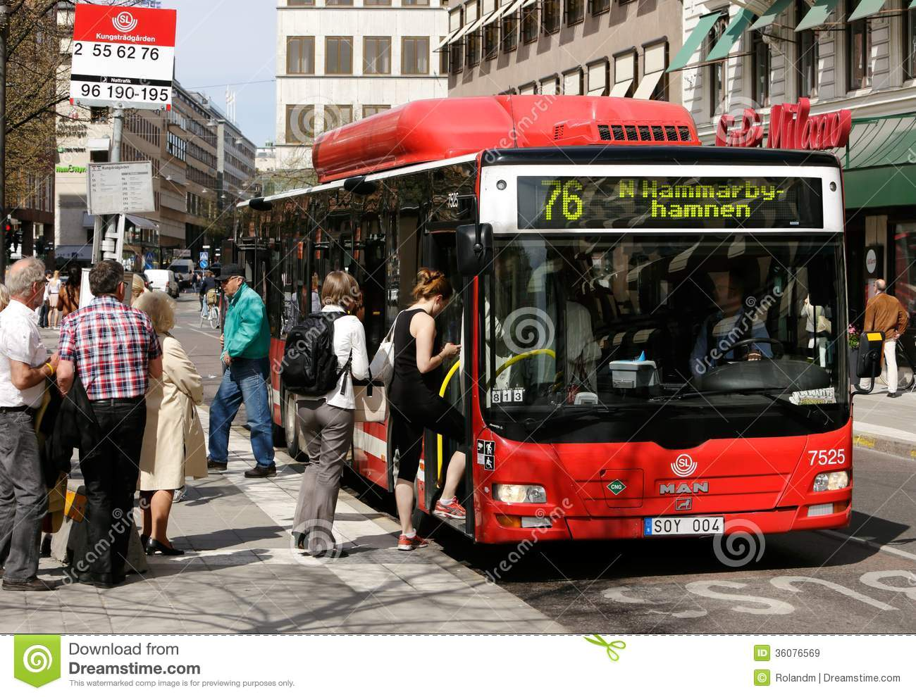 Boarding Editorial Stock Image Image Of Life People - Sweden bus map