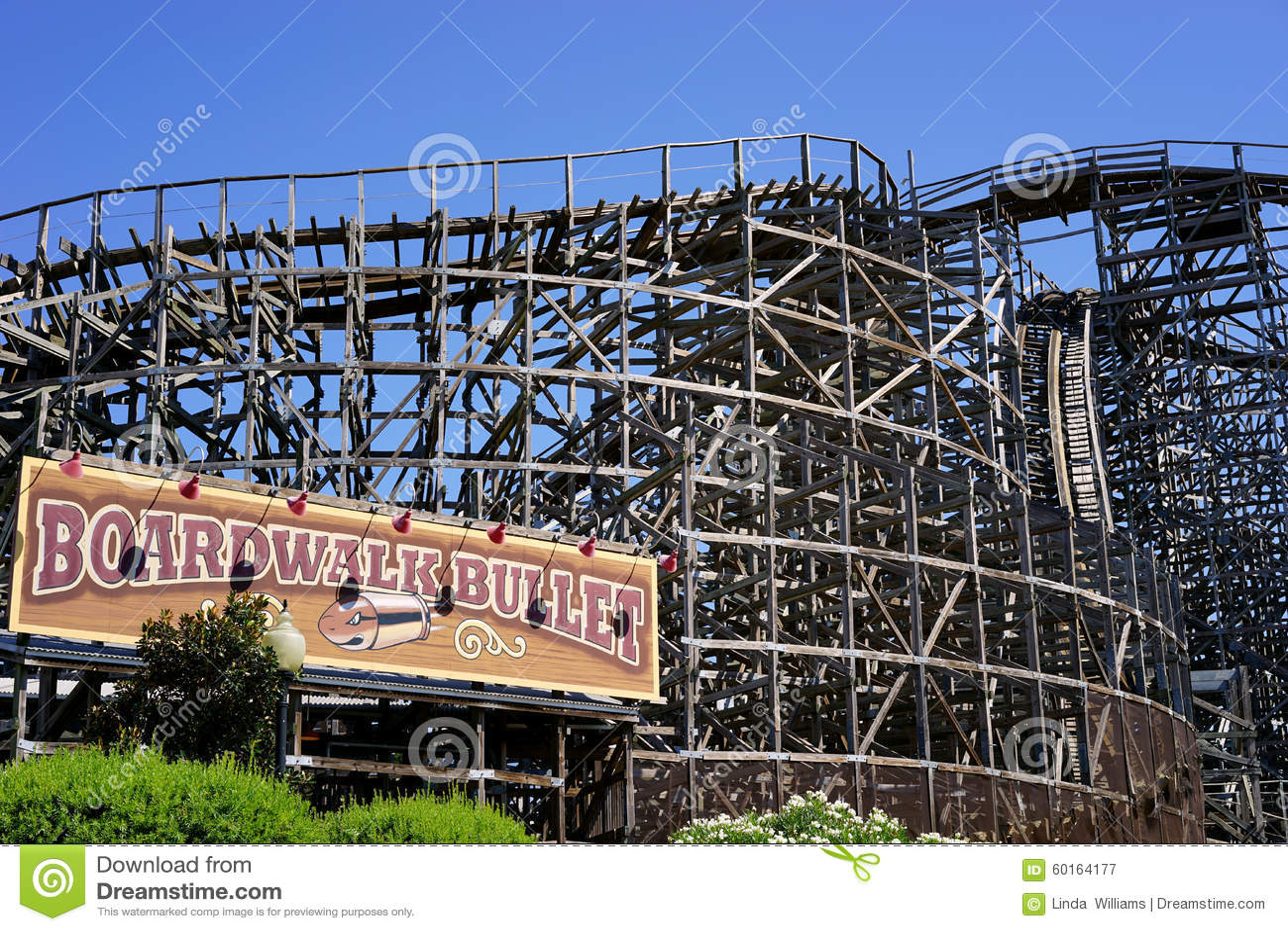 Boardwalk Bullet - wooden roller coaster