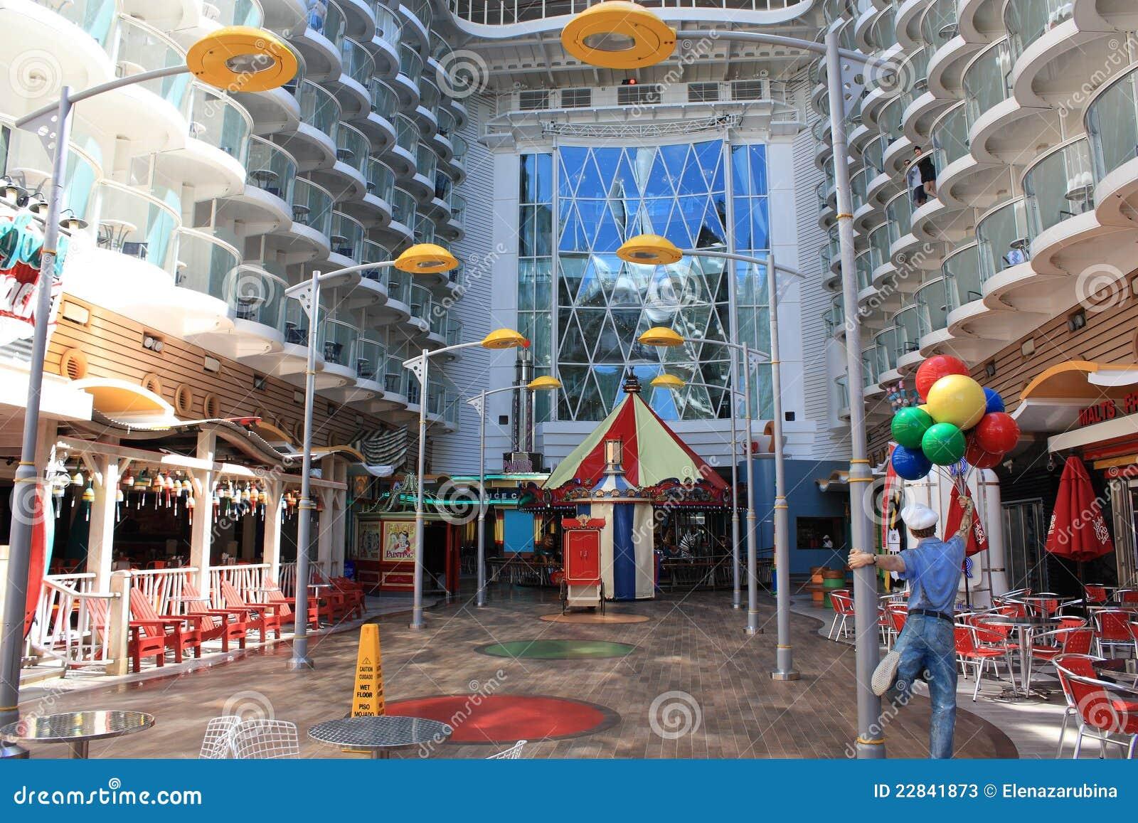 Boardwalk onboard oasis of the seas editorial stock photo image caribbean carousel cruise deck kids oasis royal seas baanklon Gallery
