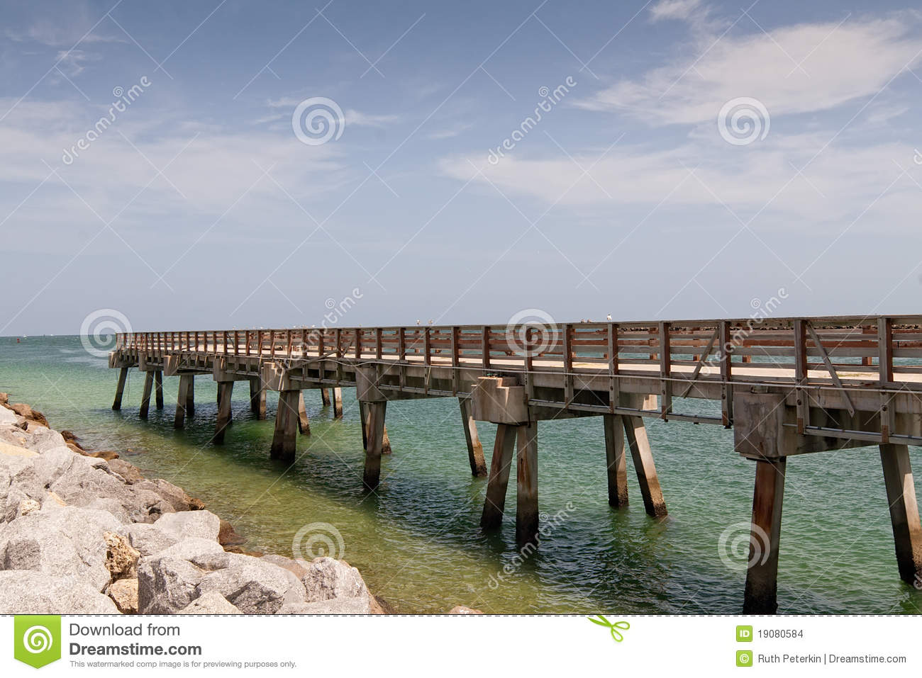 boardwalk in south beach, miami stock images - image: 19080584