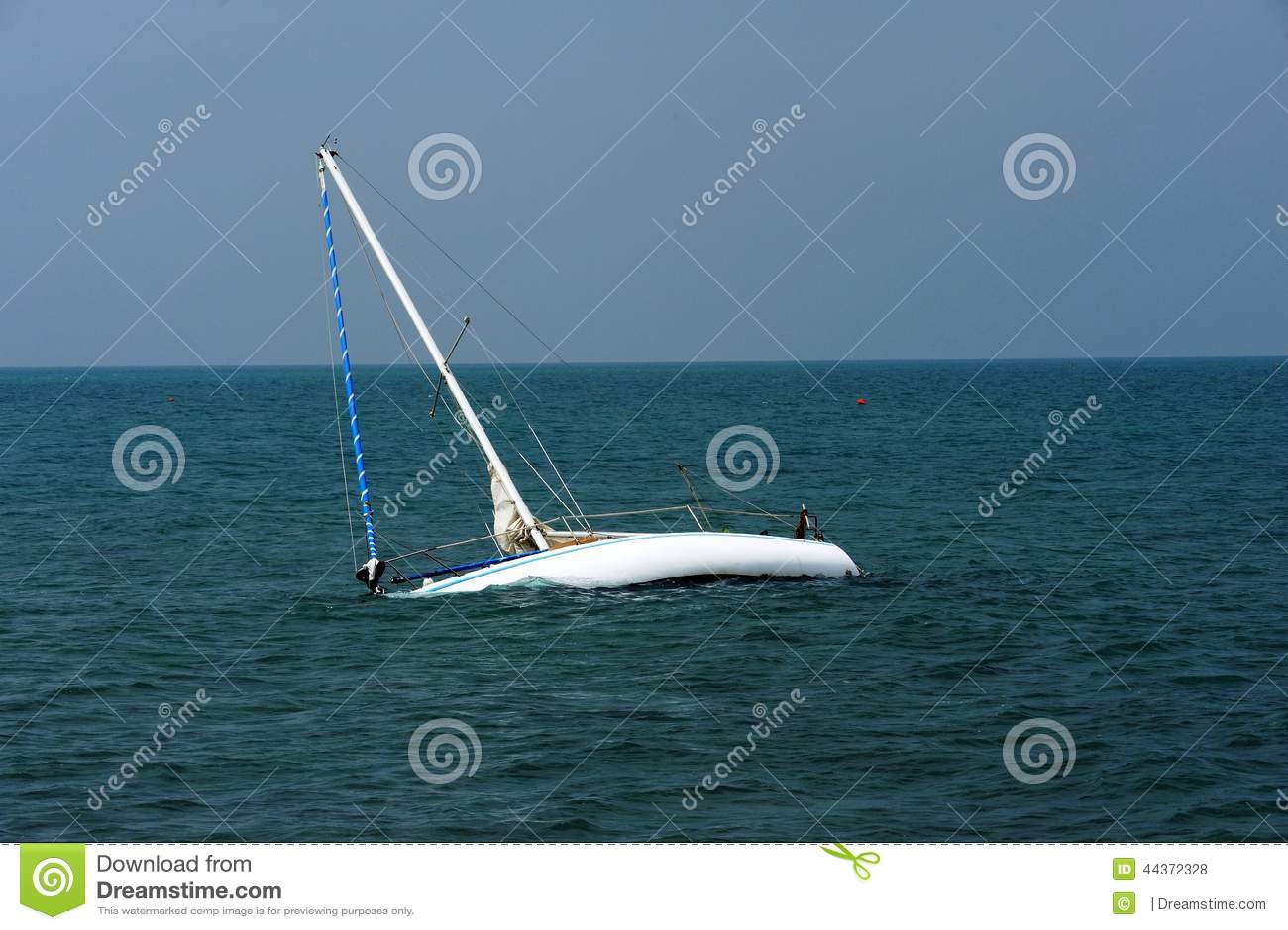 Download Boat Adrift On Adriatic Sea Stock Photo
