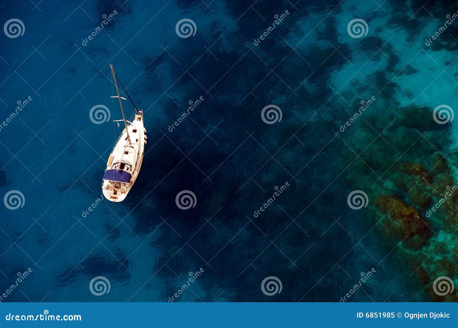 Boat on Aegean sea