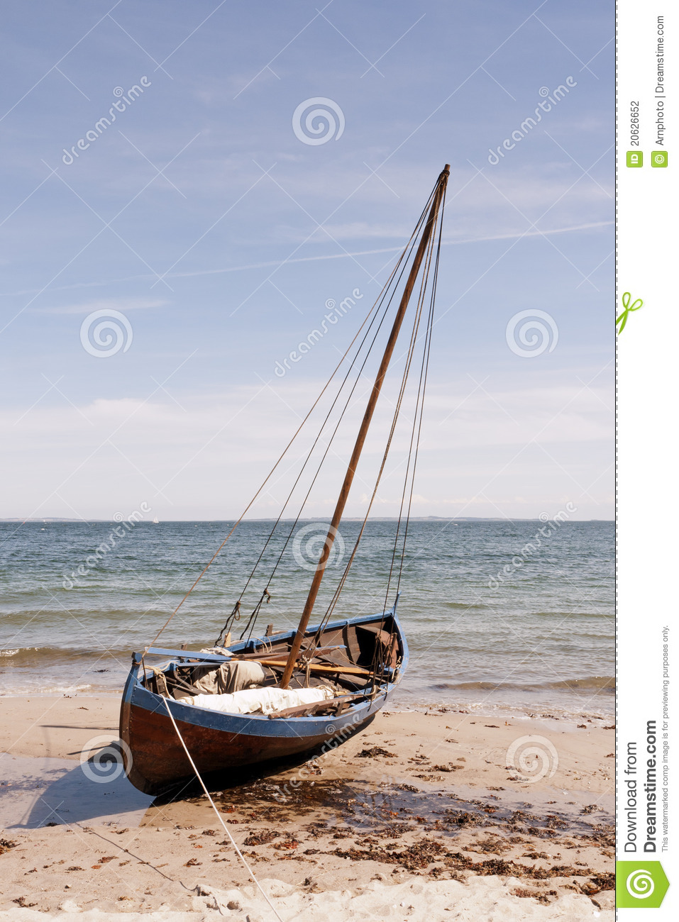 Boat On The Beach Stock Photography - Image: 20626652