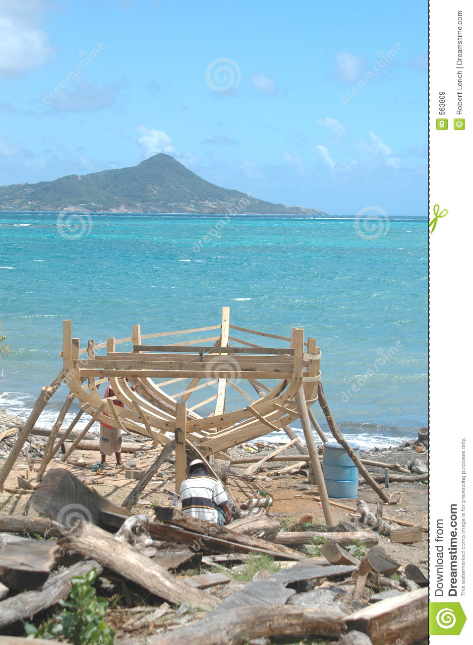 Boat Building On Carriacou, Grenada Royalty Free Stock ...