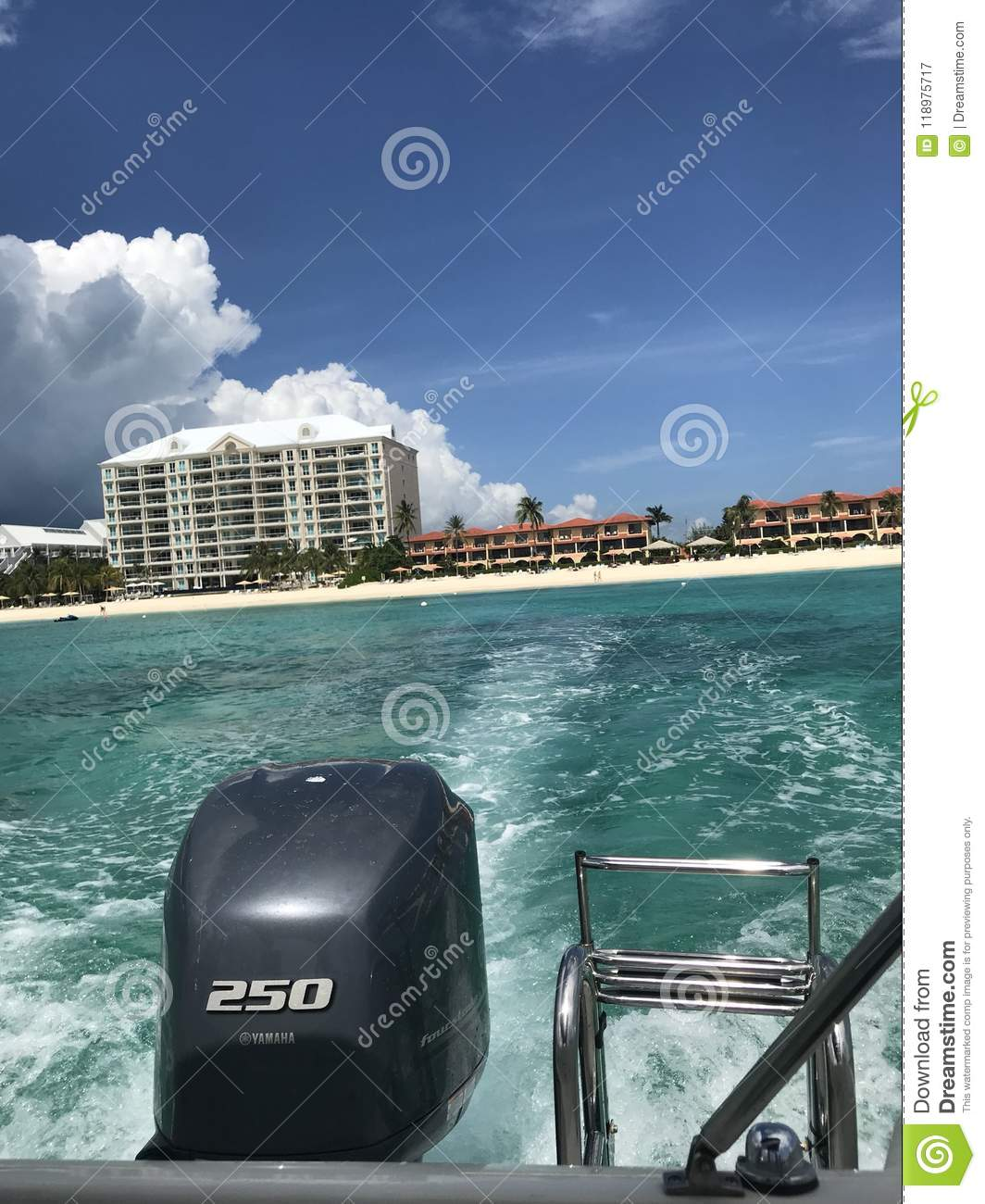 On a boat in Cayman Islands
