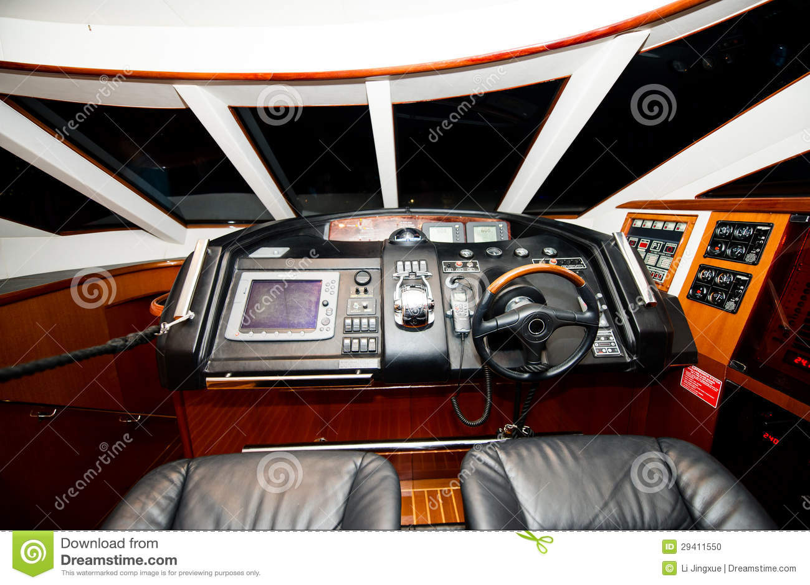 Boat Cockpit Stock Photo - Image: 29411550