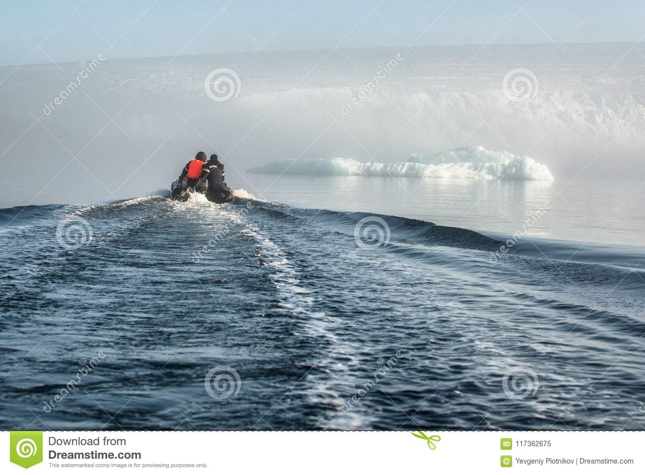 The Boat In The Cold Waters  Stock Image - Image of island