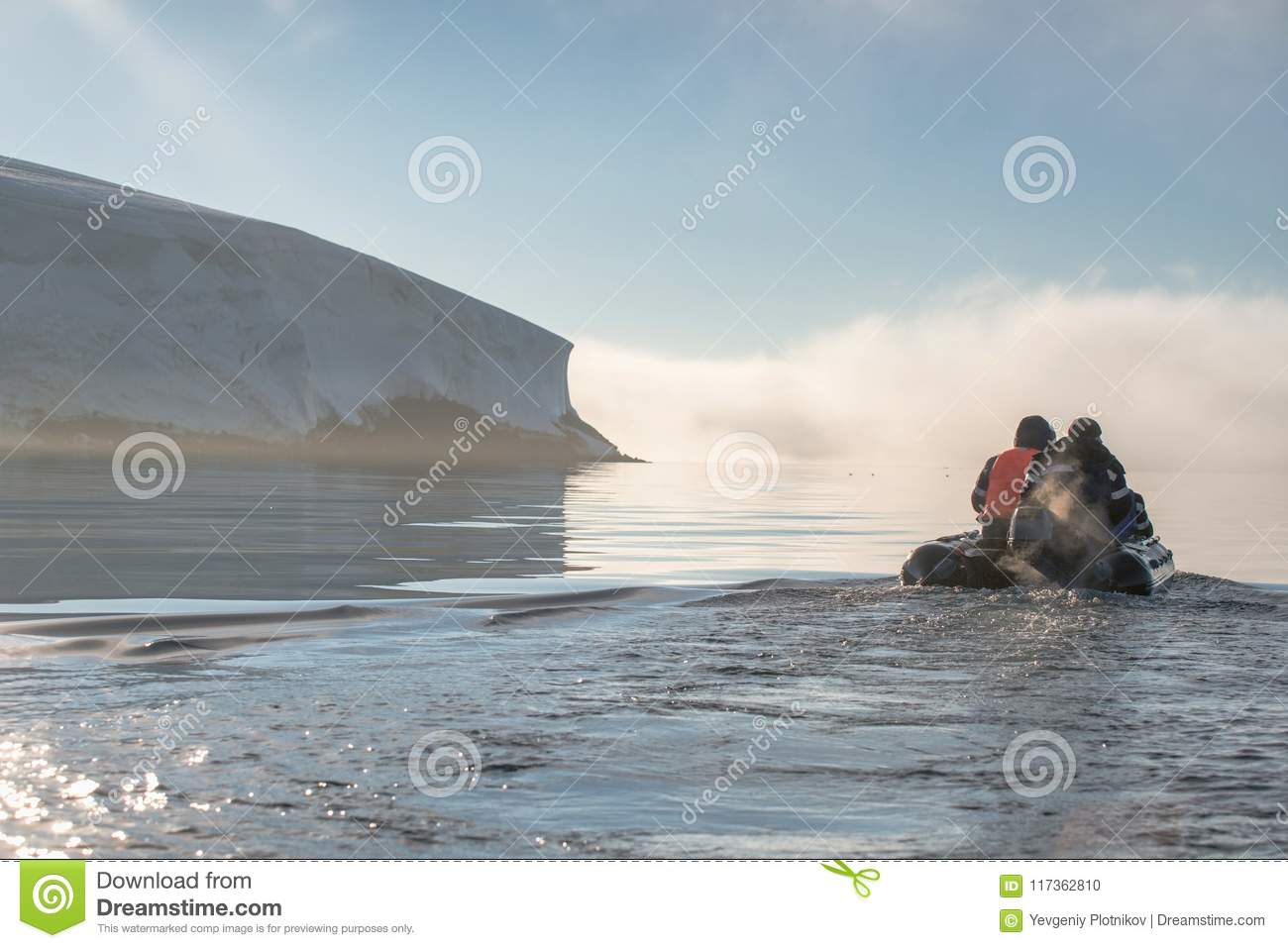 The Boat In The Cold Waters  Stock Photo - Image of