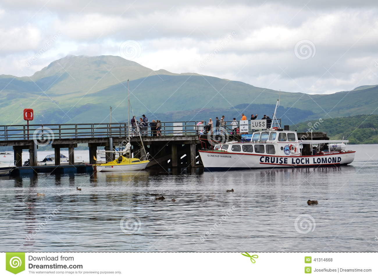 Loch Lomond United Kingdom  city photos : Boat cruise on Loch Lomond, Scotland, United Kingdom Editorial Stock ...