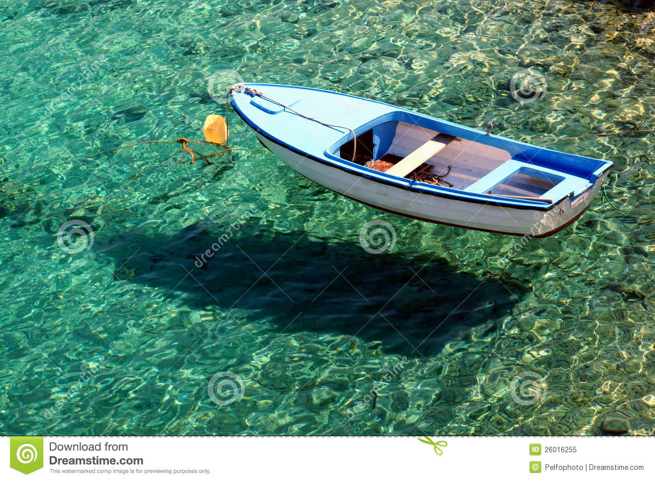 Boat On Crystal Clear Sea Stock Image Image Of Clear