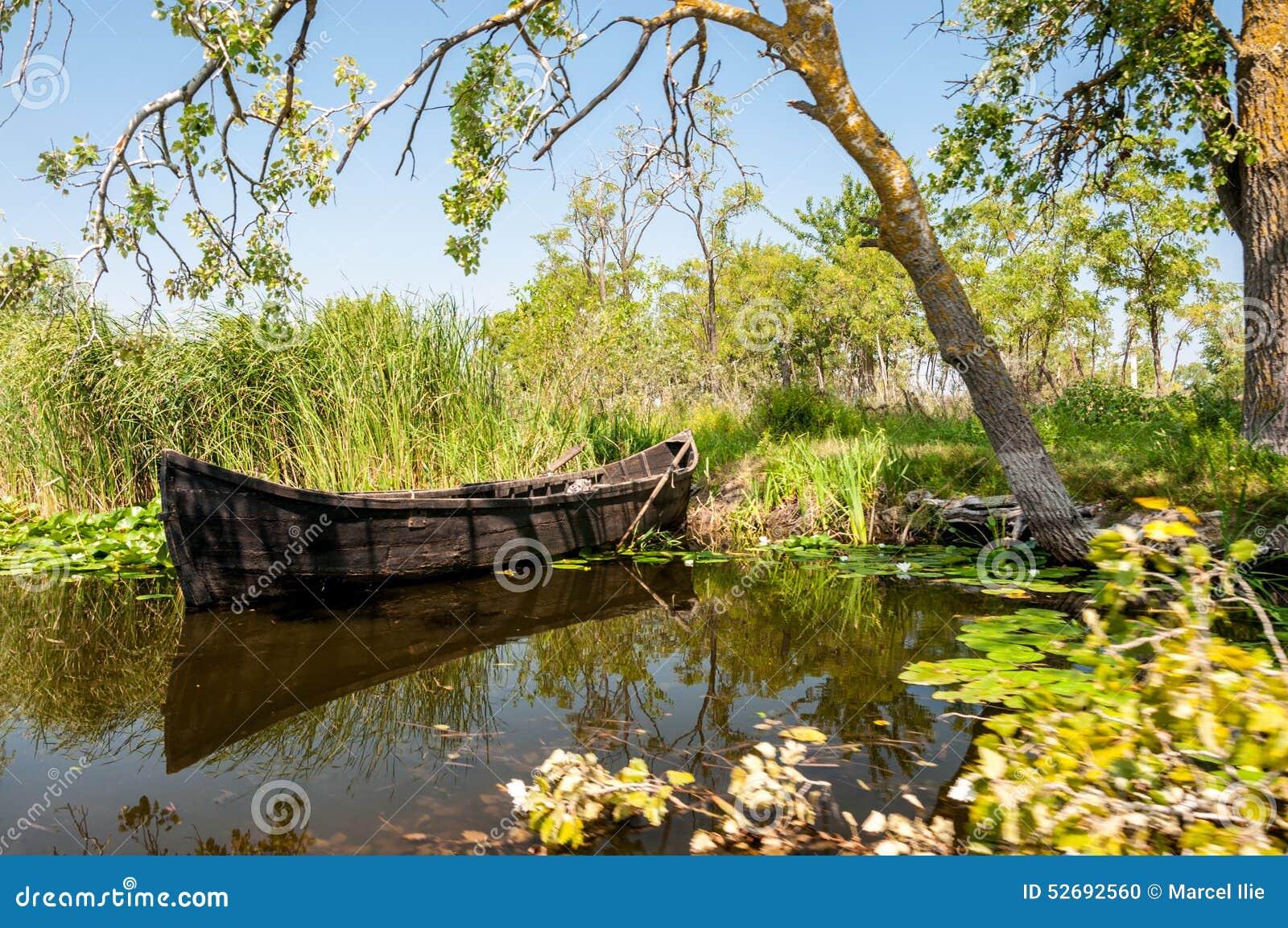 Boat in the Danube Delta
