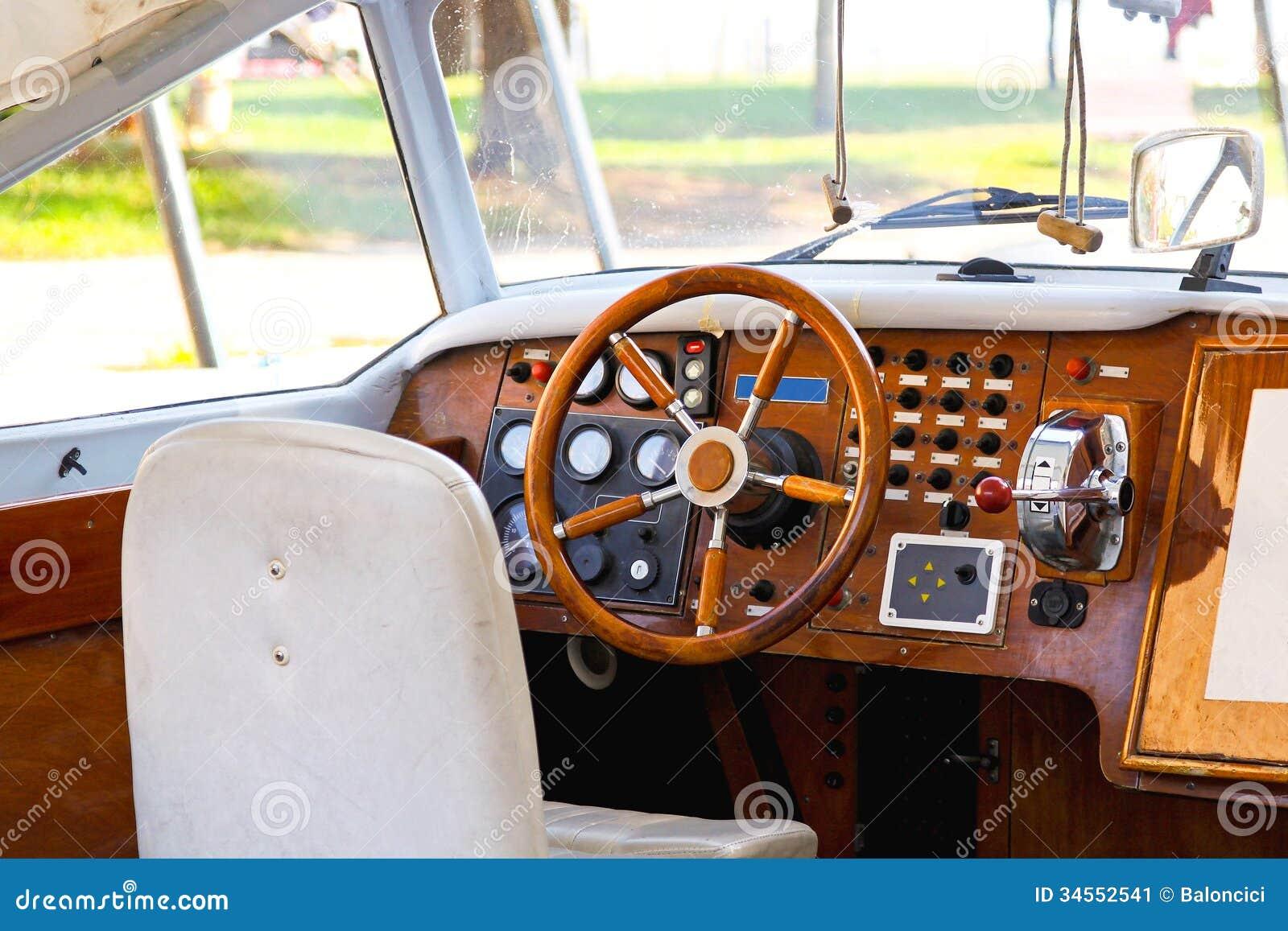 Boat Dashboard Stock Image - Image: 34552541