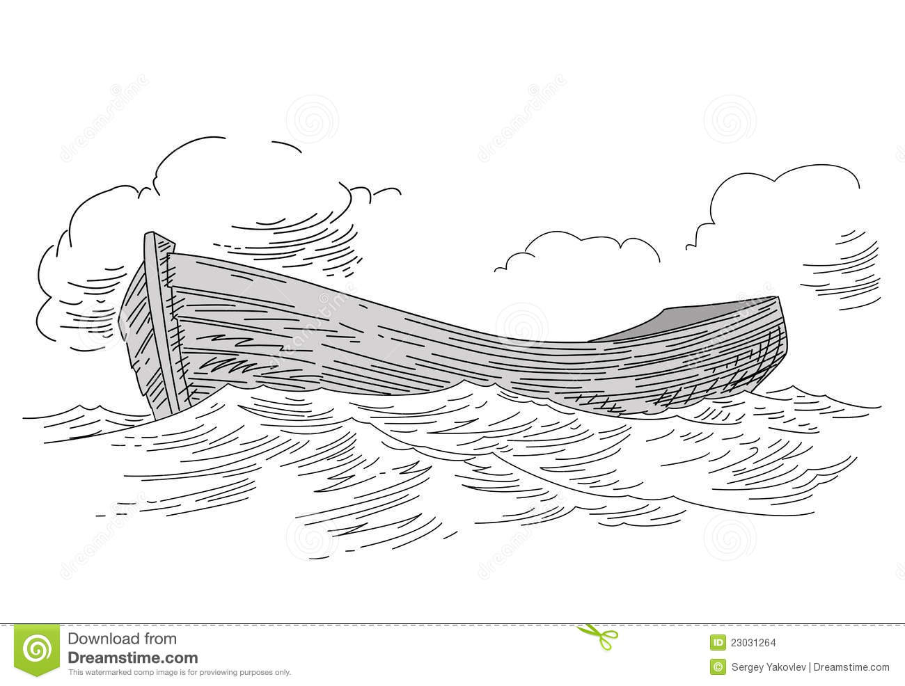 Boat Drawing Stock Images - Image: 23031264