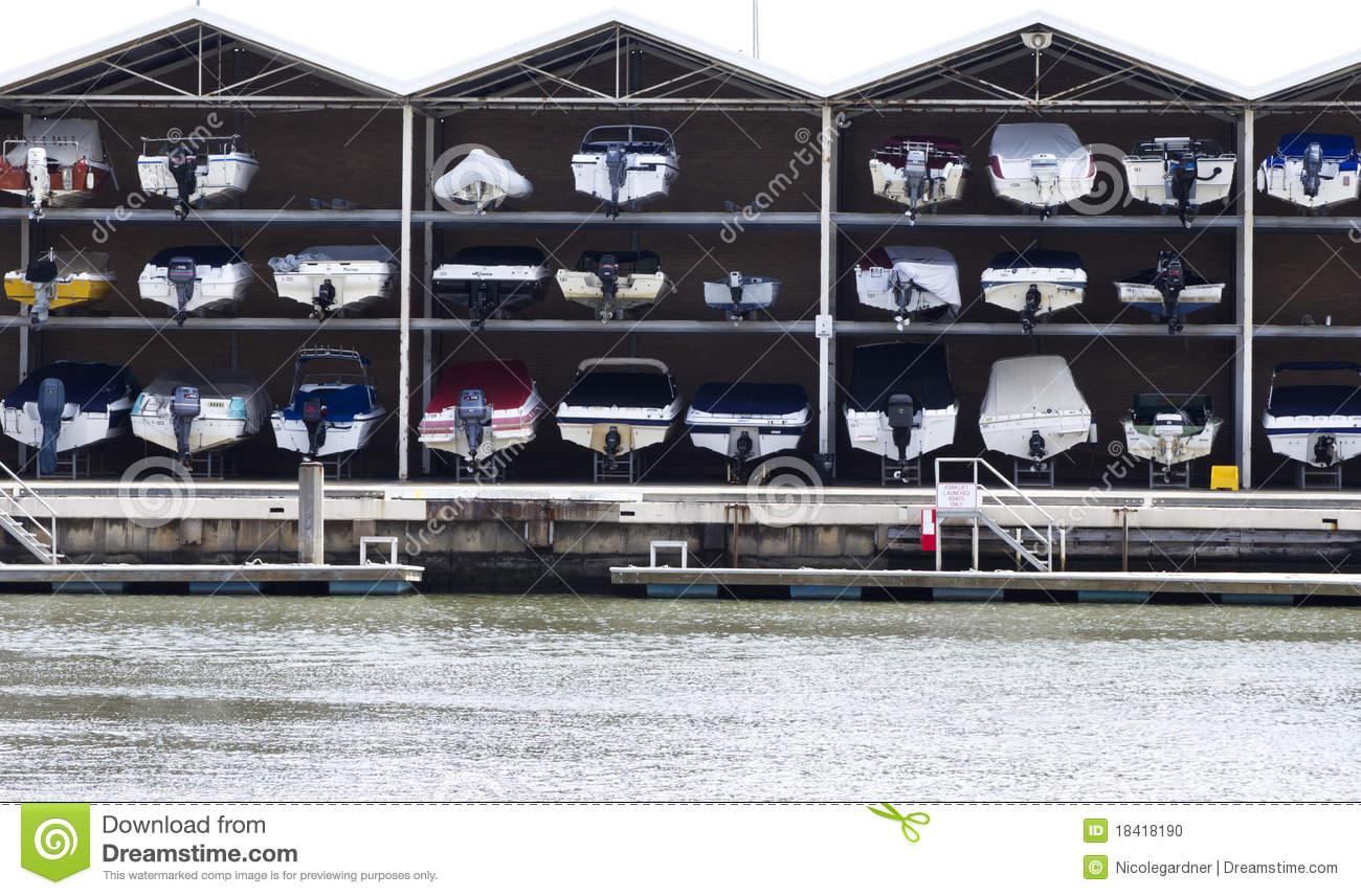 Boat Garage Stock Photo Image Of Sale Motorboat Seaside