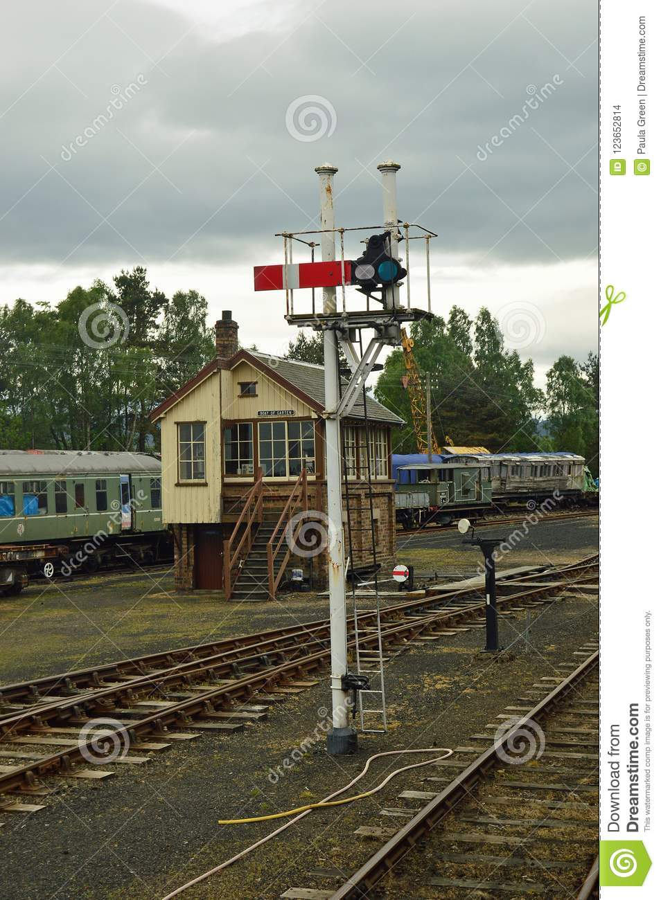 Boat Of Garten Signal And Signal Box Strathspey Railway Scotland