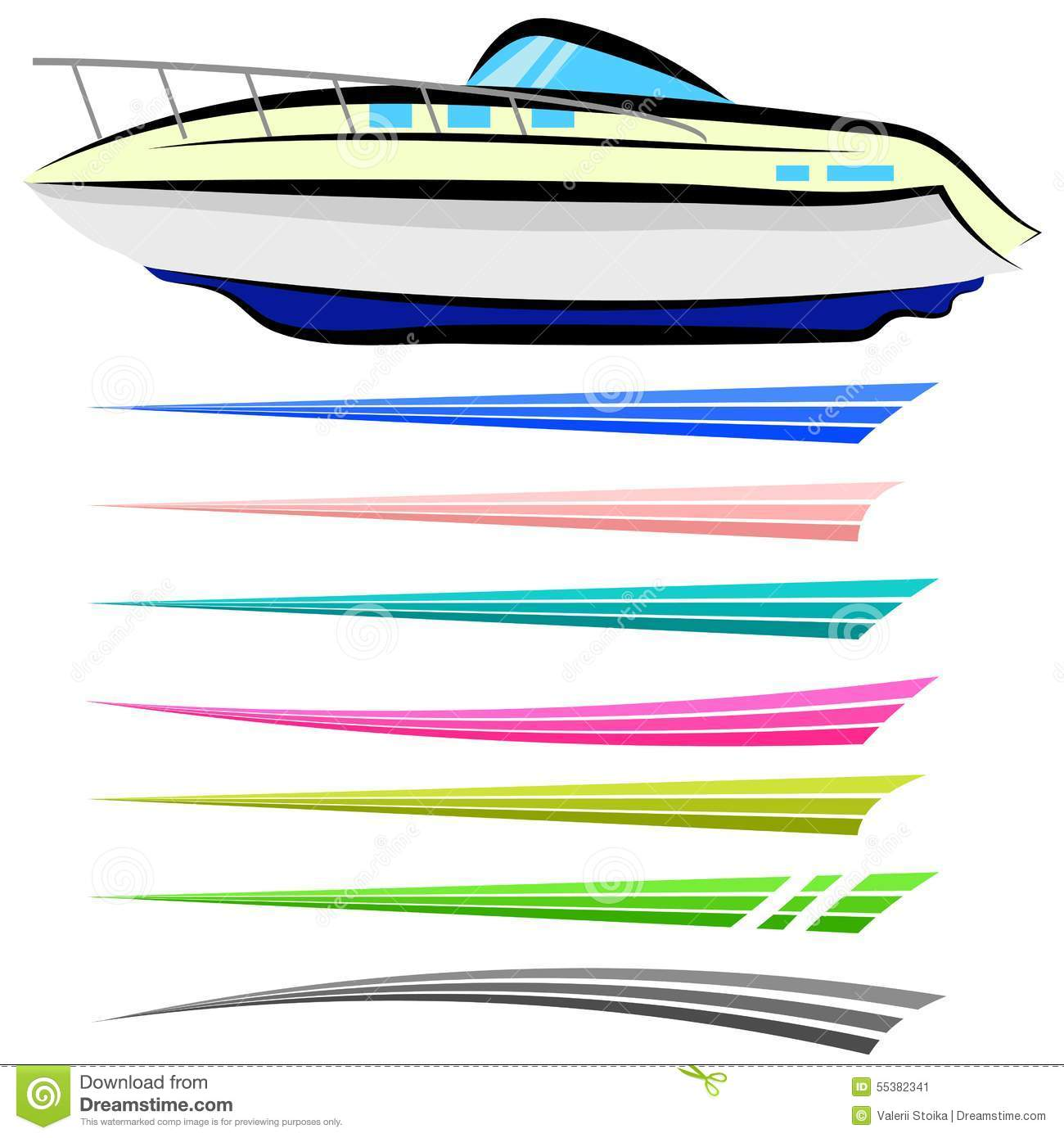 boat graphics stock vector image 55382341