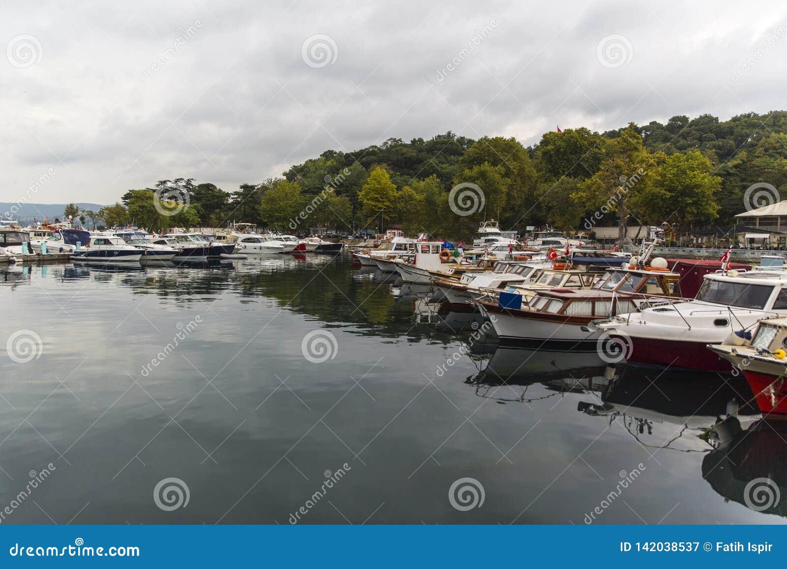 Boat Harbor in Istanbul Turkey