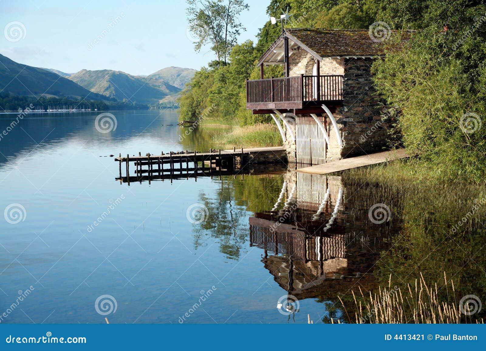 Boat House On Ullswater Stock Image Image 4413421