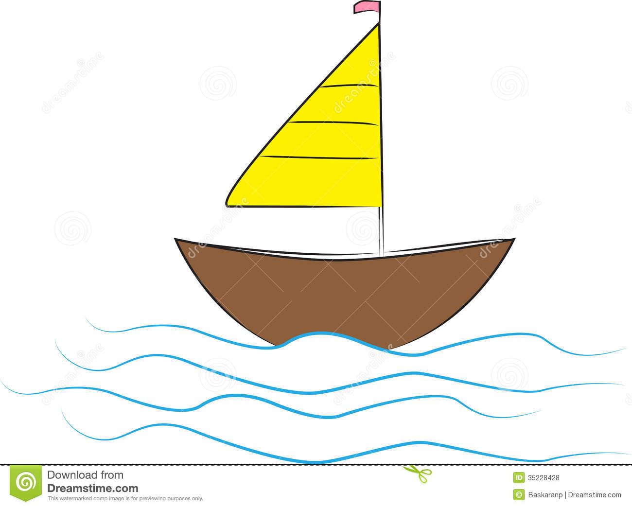 Illustration of boat design isolated on white background.