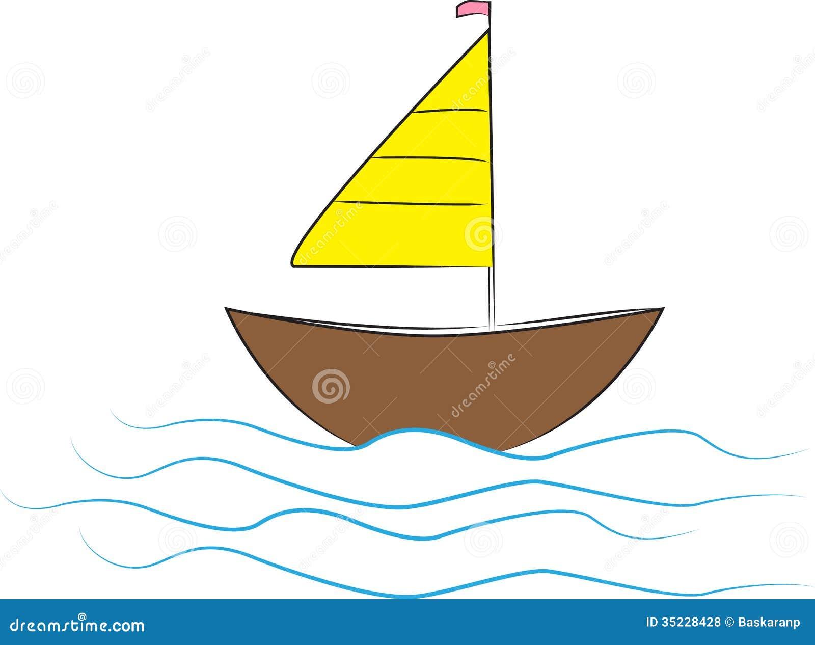 Illustration of boat design isolated on white background.