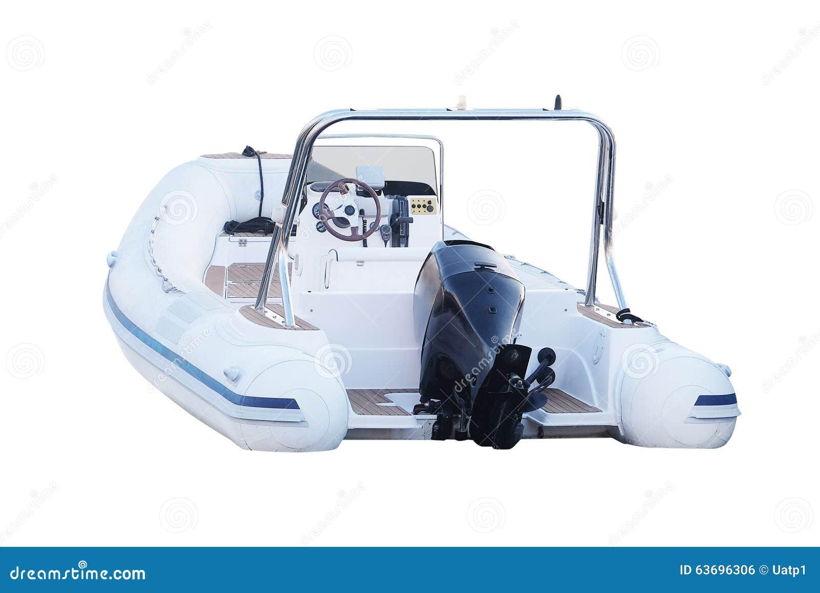 Motor Boat Isolated On White Background Stock Image
