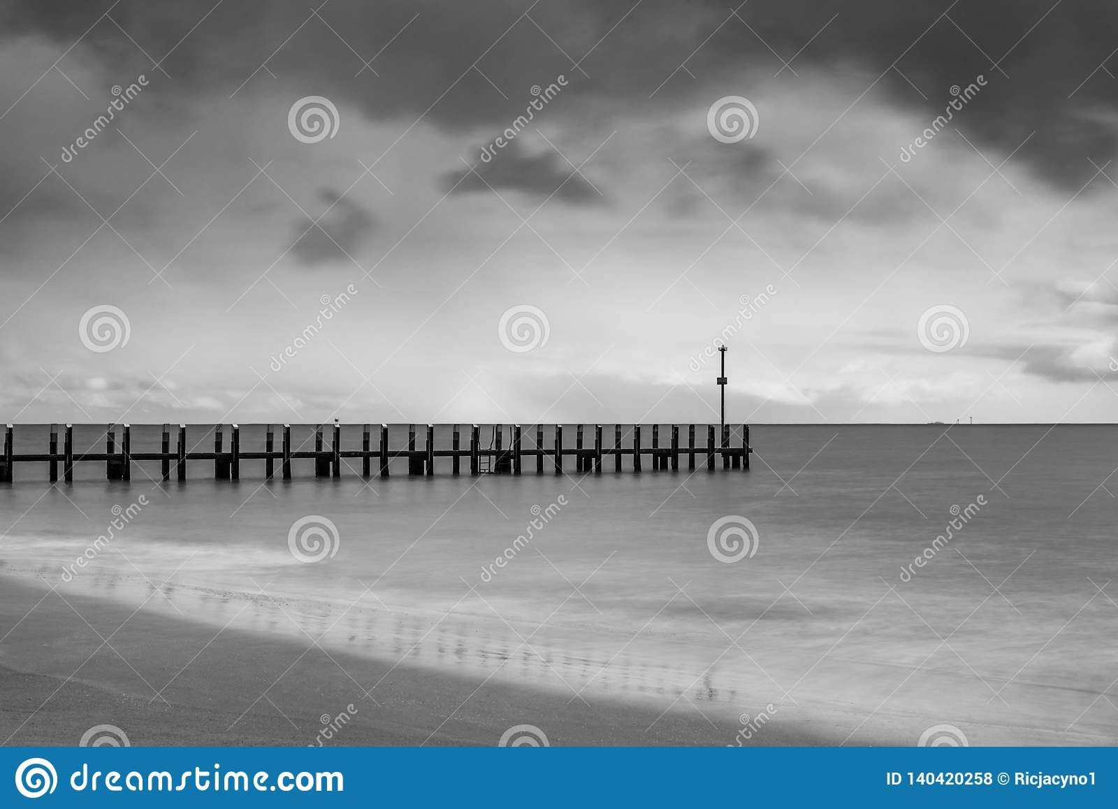 Boat jetty on a stormy afternoon