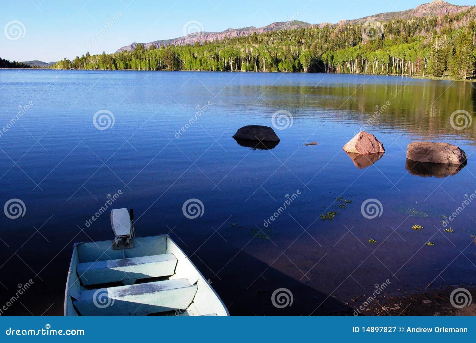 Boat On Lake Royalty Free Stock Photography Image 14897827
