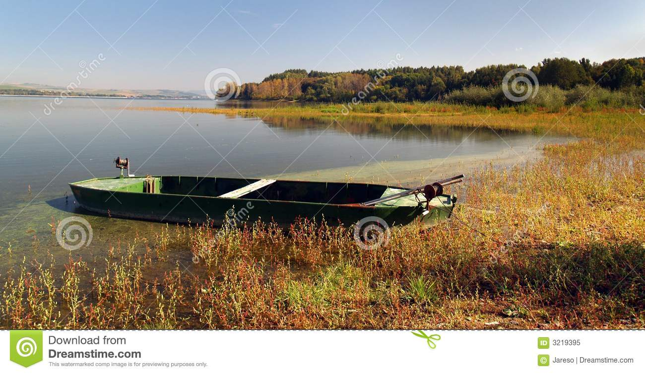 Boat by the lake