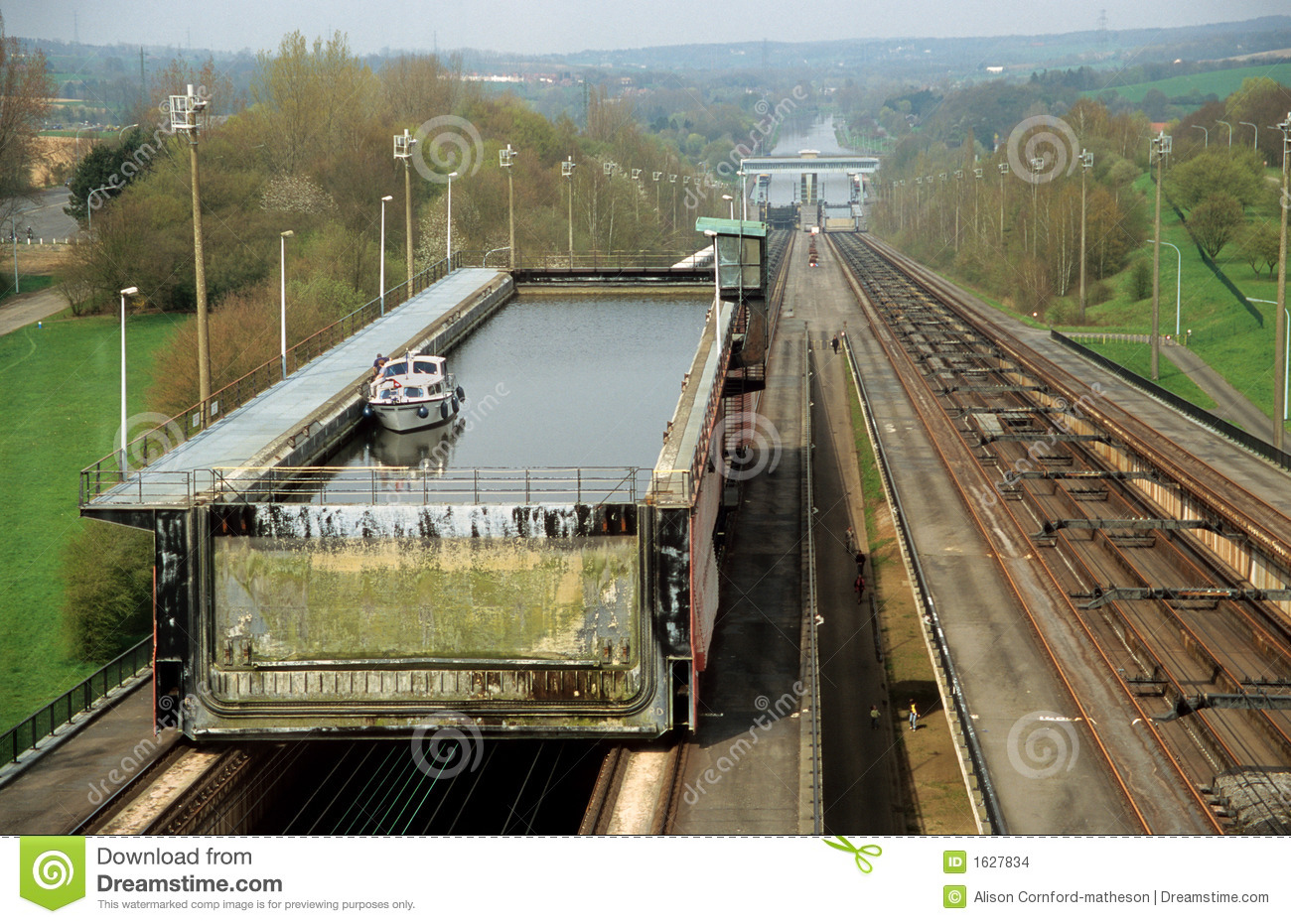 Boat Lift Ronquieres Stock Images - Image: 1627834