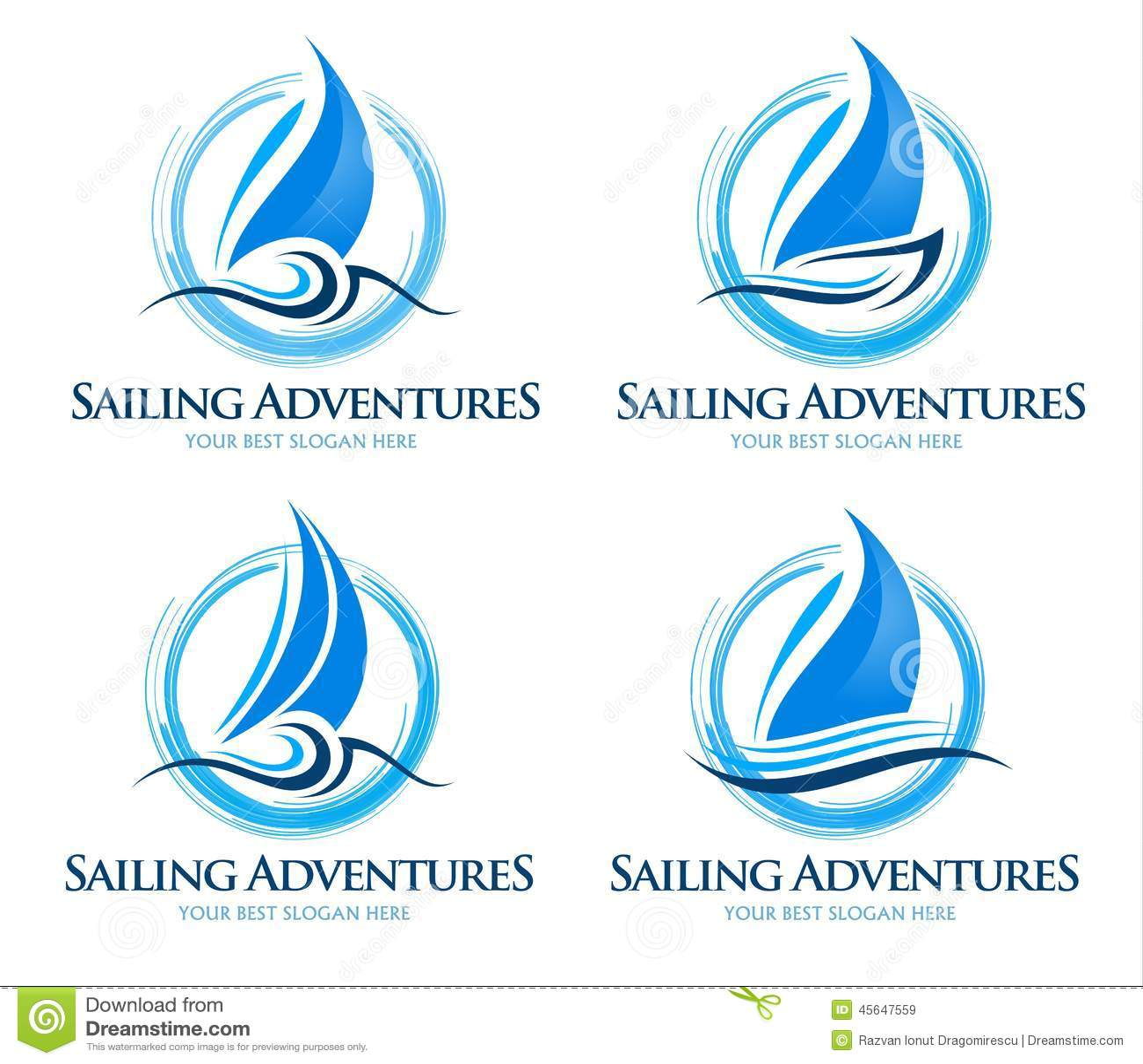 boat logo stock vector image 45647559
