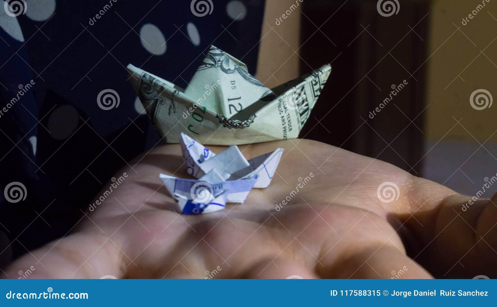Fold Money Sailboat Origami - $1 One Dollar Bill Tutorial Full ... | 821x1300